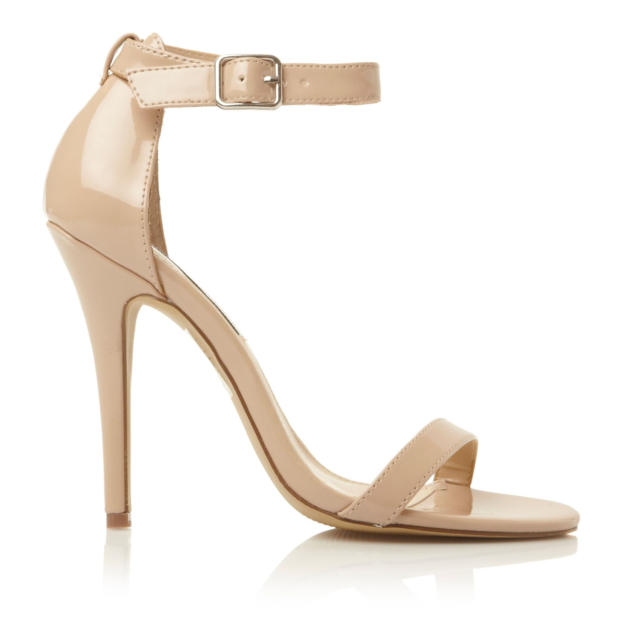 ... madden Realove Buckle Ankle Strap Stiletto Sandals in Natural | Lyst