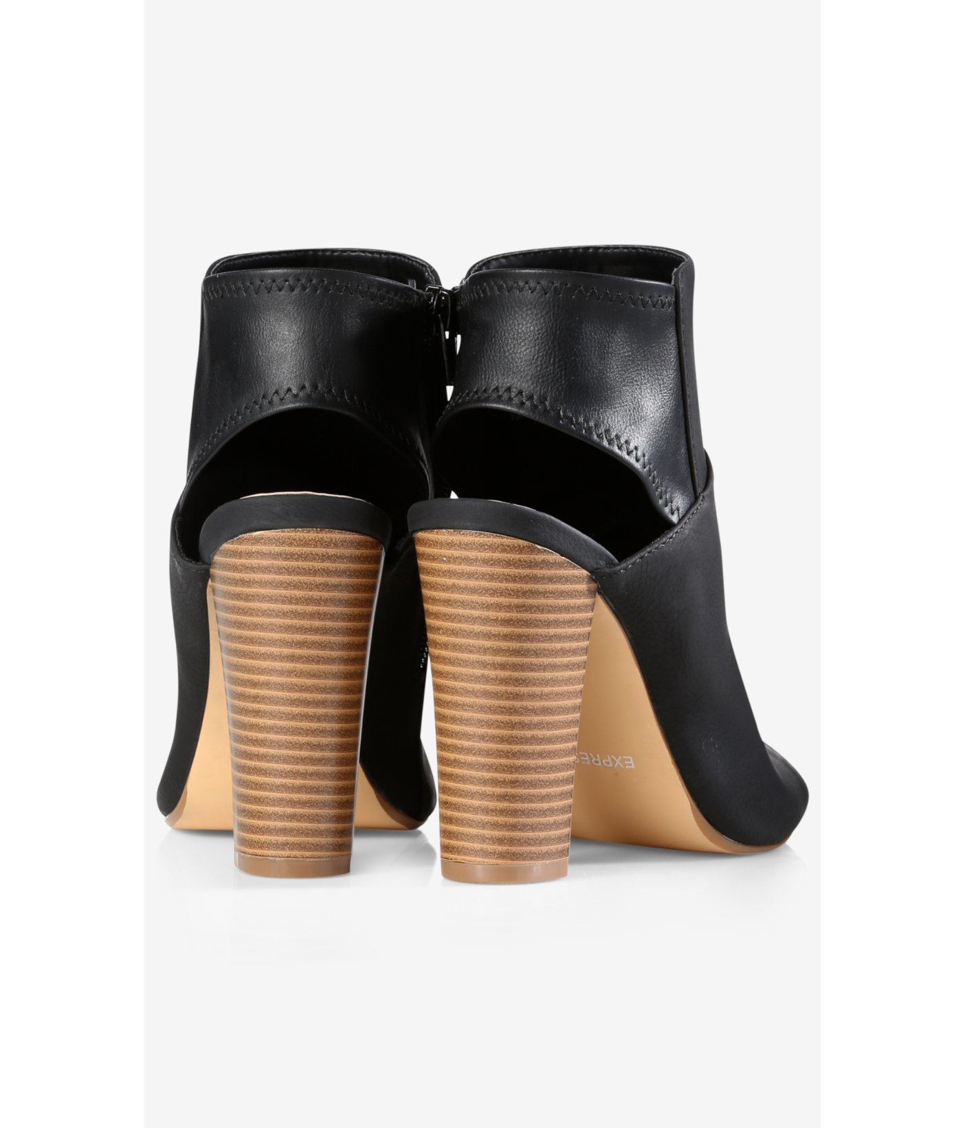 7f07ea3dd7647 express view perforated ankle strap open toe booties popular stores ...