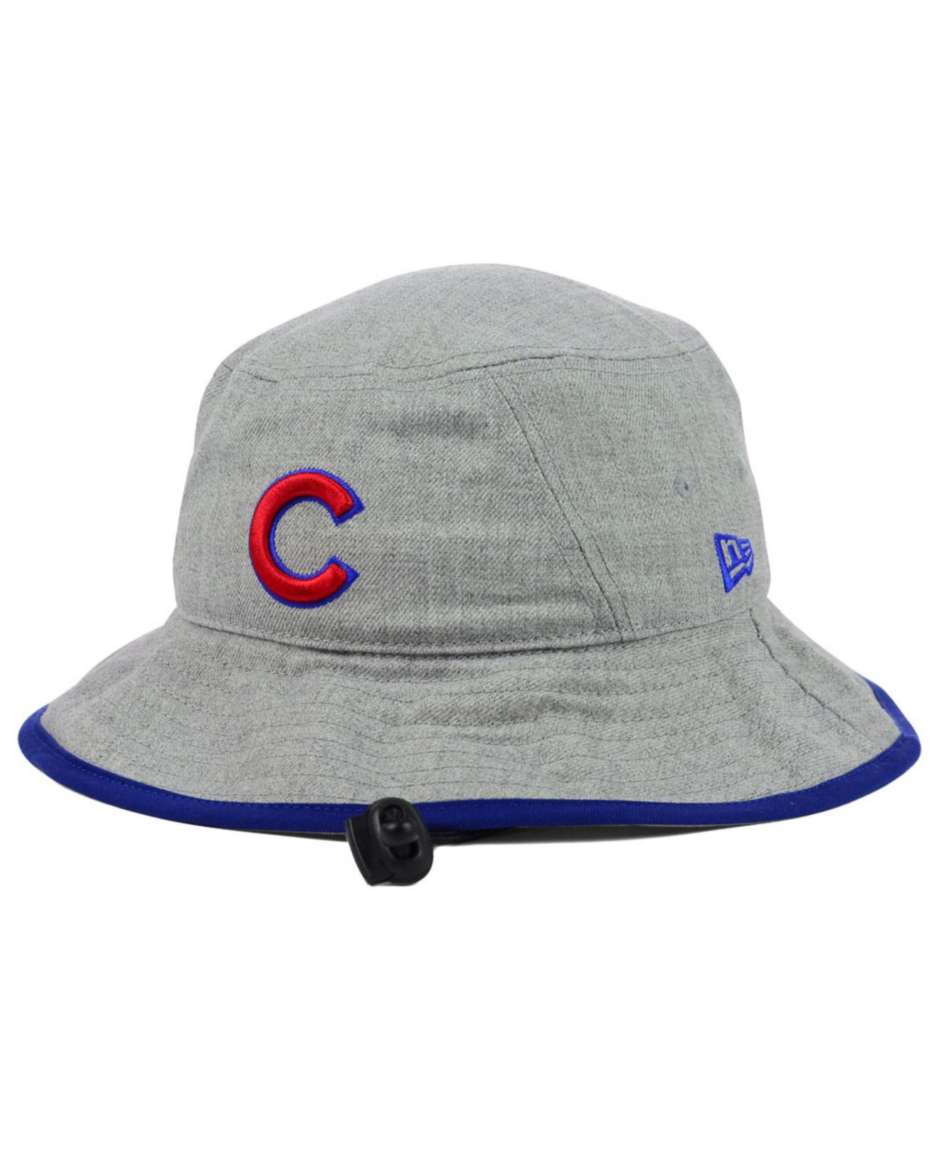 218f136d1eb ... canada lyst ktz chicago cubs heather tipped bucket hat in gray for men  37b4c d2e96