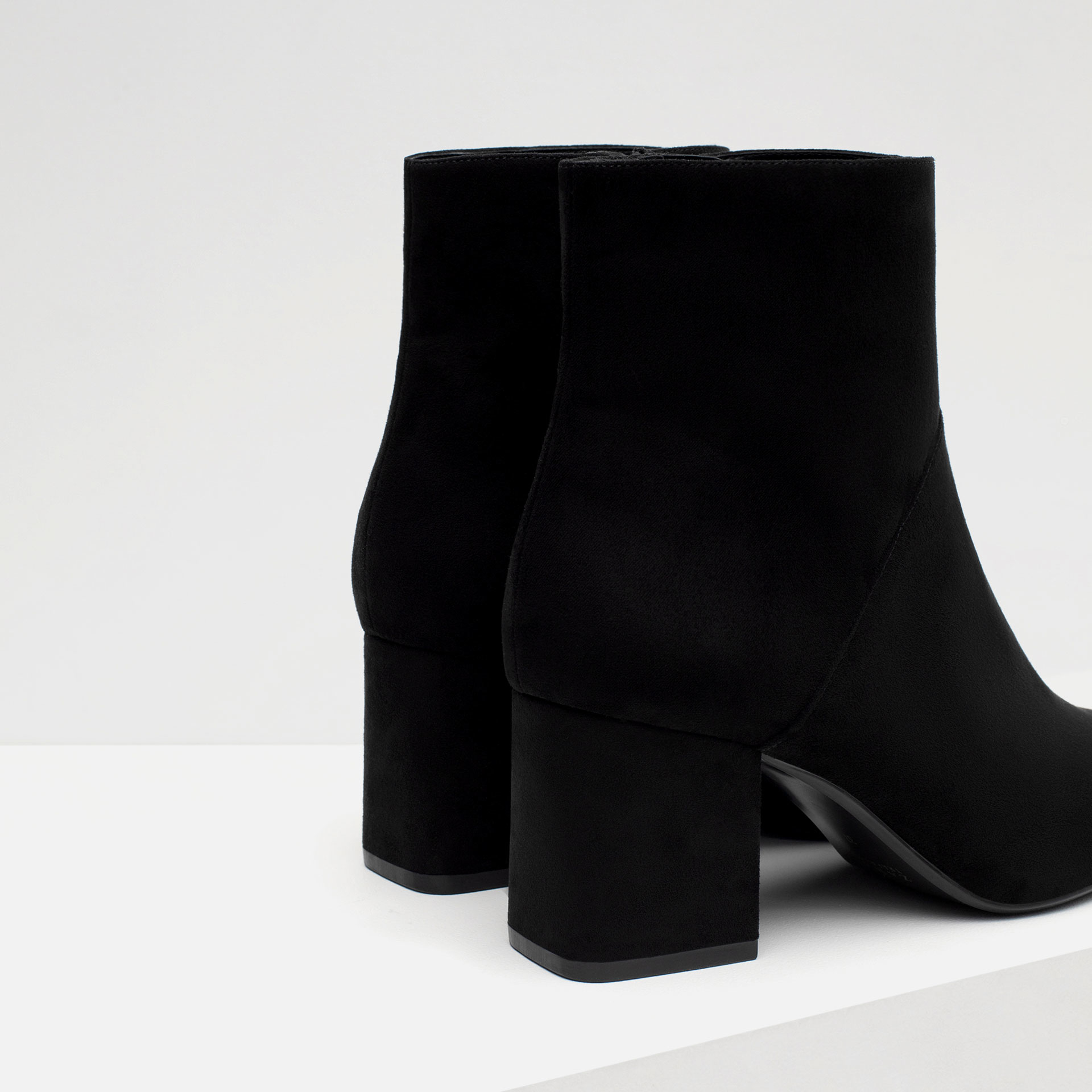 Zara High Heel Pointed Ankle Boots in Black | Lyst