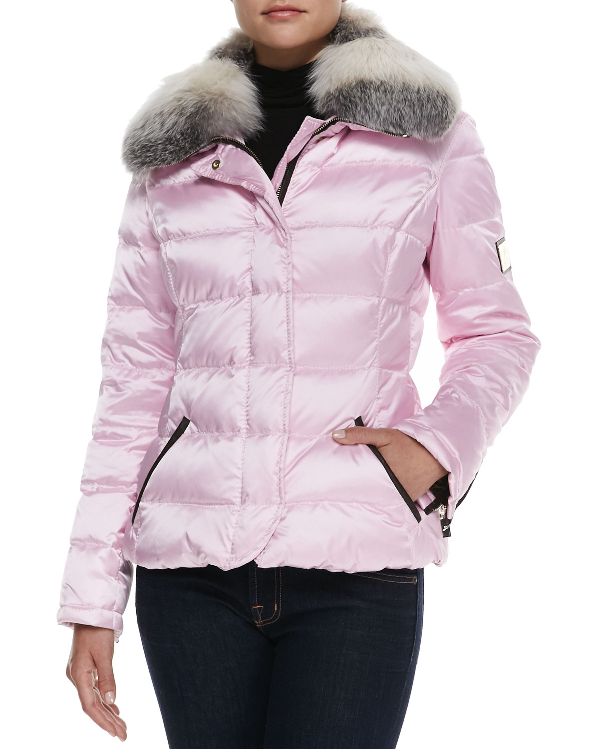 Lyst Gorski Quilted Ski Jacket In Pink
