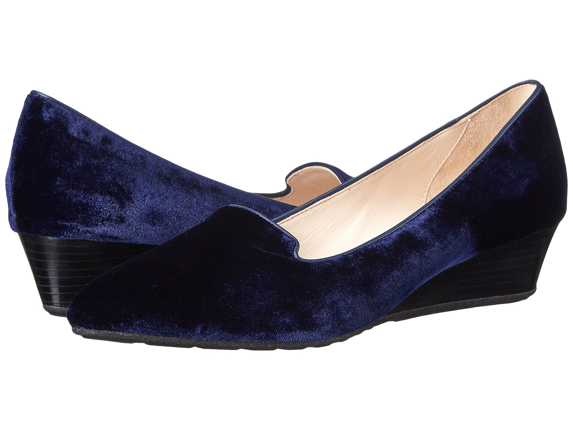 Womens Shoes Cole Haan Tali Luxe Smoking Slipper Wedge Blazer Blue Velvet