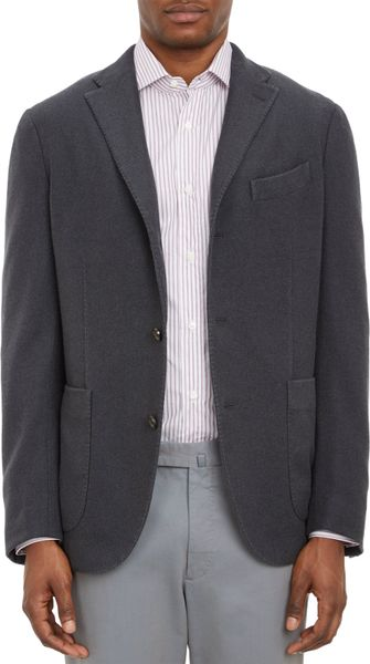 Boglioli Cashmere Two Button K Jacket Sportcoat in Black ...