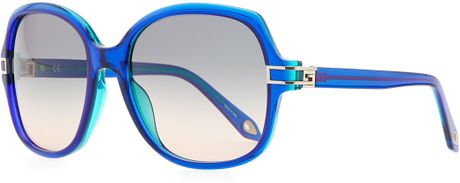 Givenchy Round Plastic Sunglasses Blue in Blue (Green/Blue) - Lyst