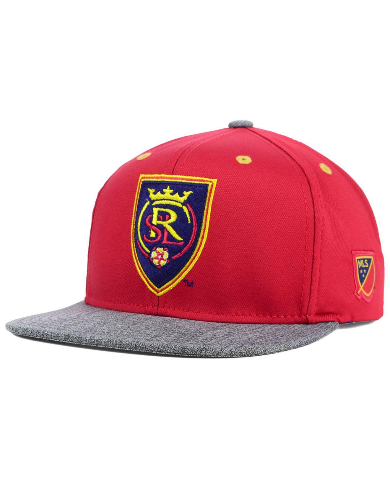 a058839d48c Lyst - adidas Real Salt Lake Team Snapback Cap in Purple for Men