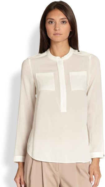 Zip Front Long Sleeve Blouse 3