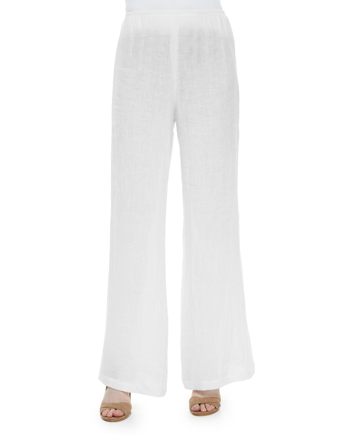 New Vince Wide Leg Linen Drawstring Pants In White  Lyst