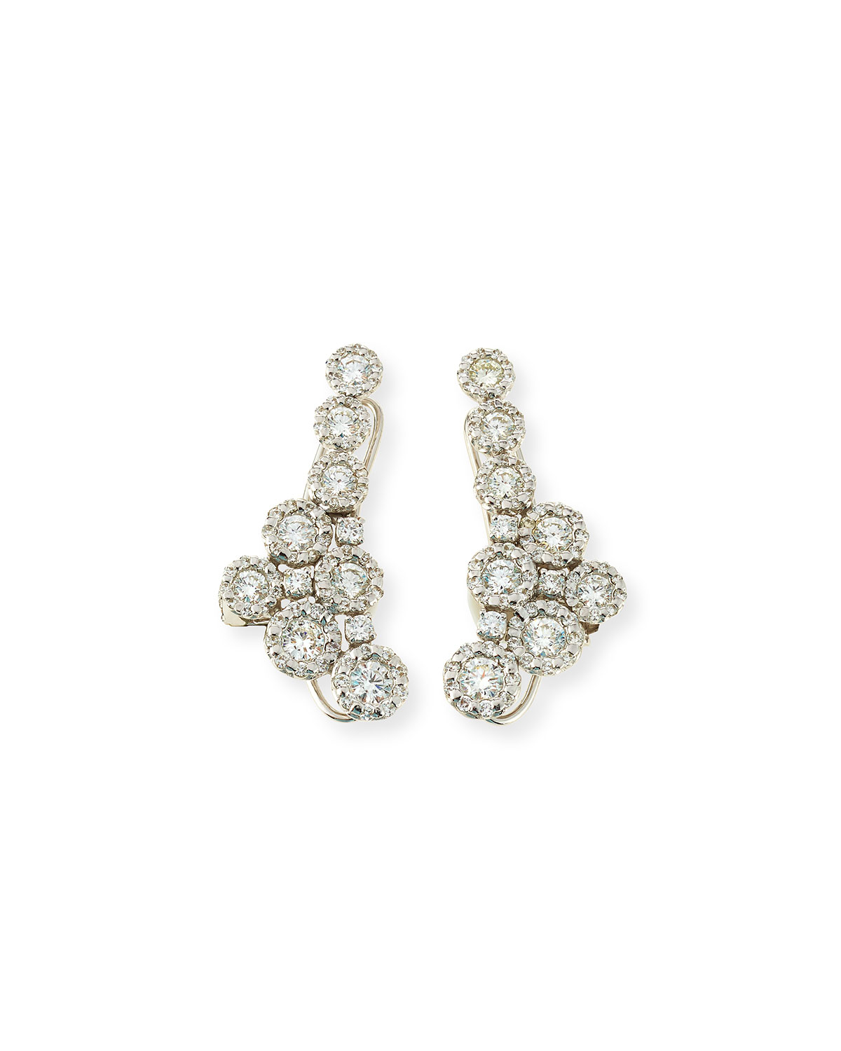 Yeprem 18kt gold diamond cluster earrings - Metallic WfOzn1yVmN