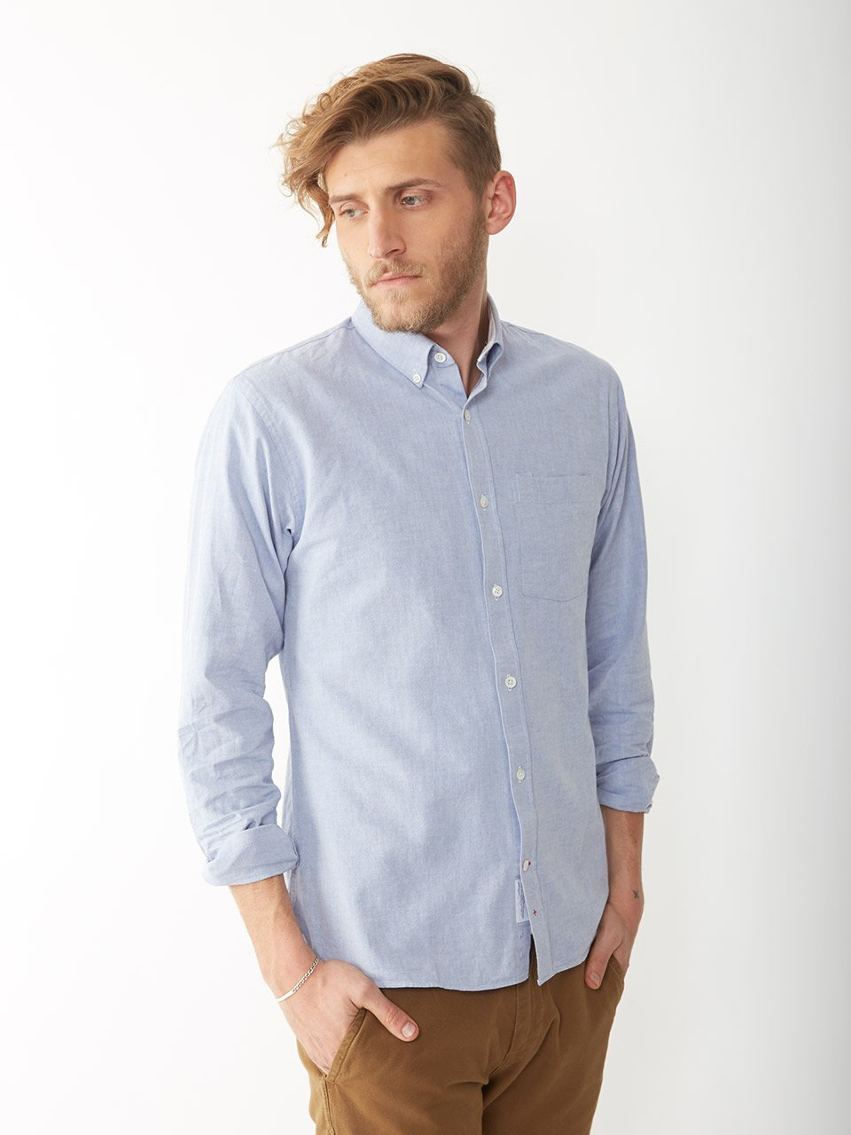 Alternative apparel Oxford Button Down Shirt in Blue for Men | Lyst