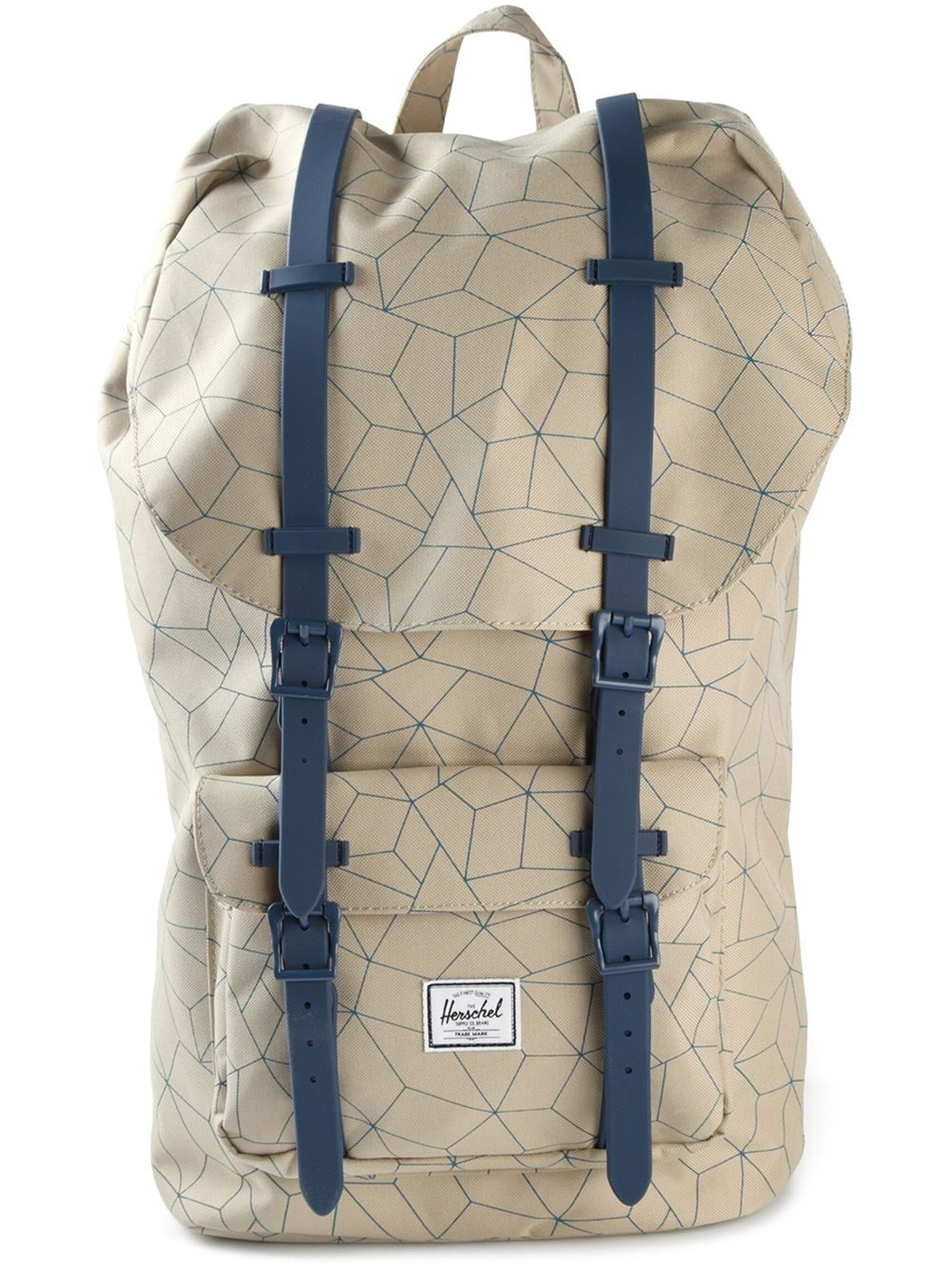 herschel supply co 39 little america 39 backpack in natural for men lyst. Black Bedroom Furniture Sets. Home Design Ideas