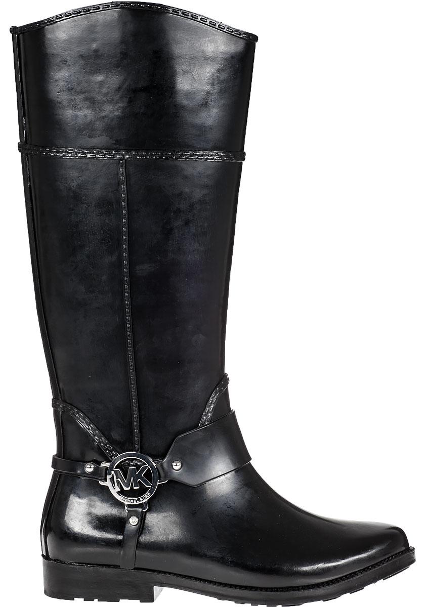 Lyst - MICHAEL Michael Kors Fulton Harness Rain Boot Black ...