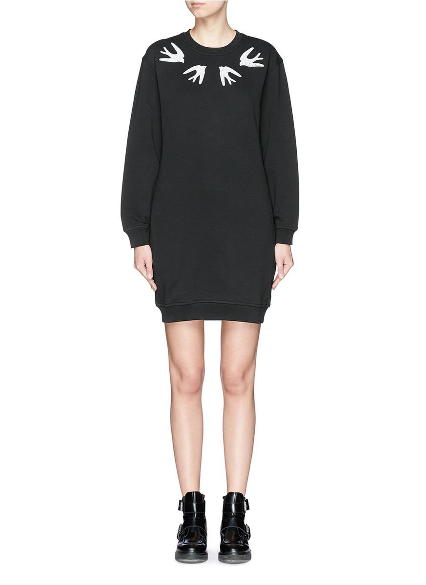 swallow sweater dress - Black Alexander McQueen Syh4cJNGeC