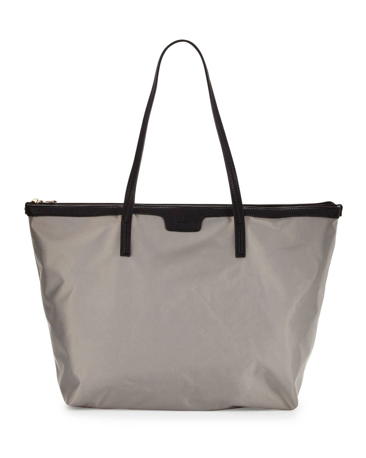 Neiman marcus Miley Nylon Zip-top Tote Bag in Gray | Lyst