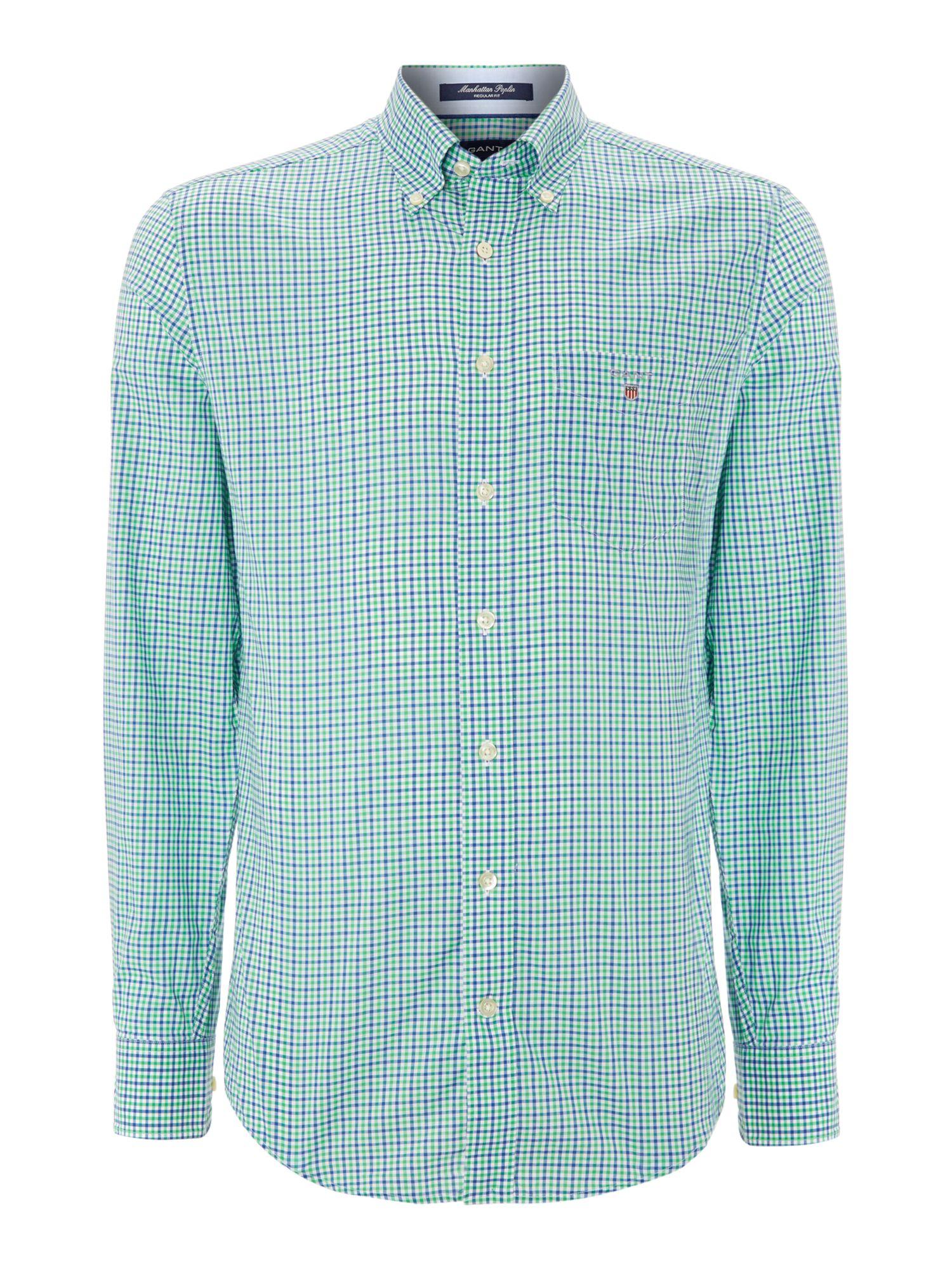 Gant Long Sleeve Gingham Shirt In Green For Men Lyst