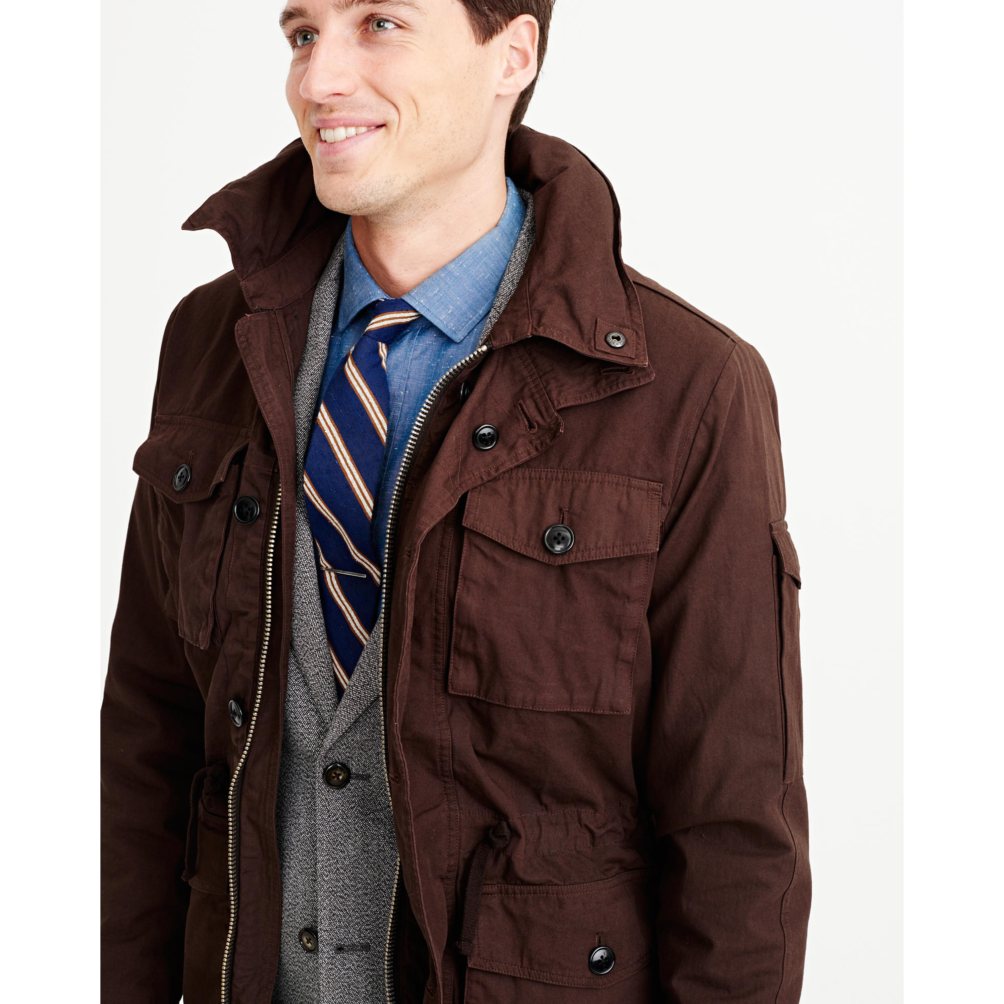 J.crew Field Mechanic Jacket in Brown for Men | Lyst