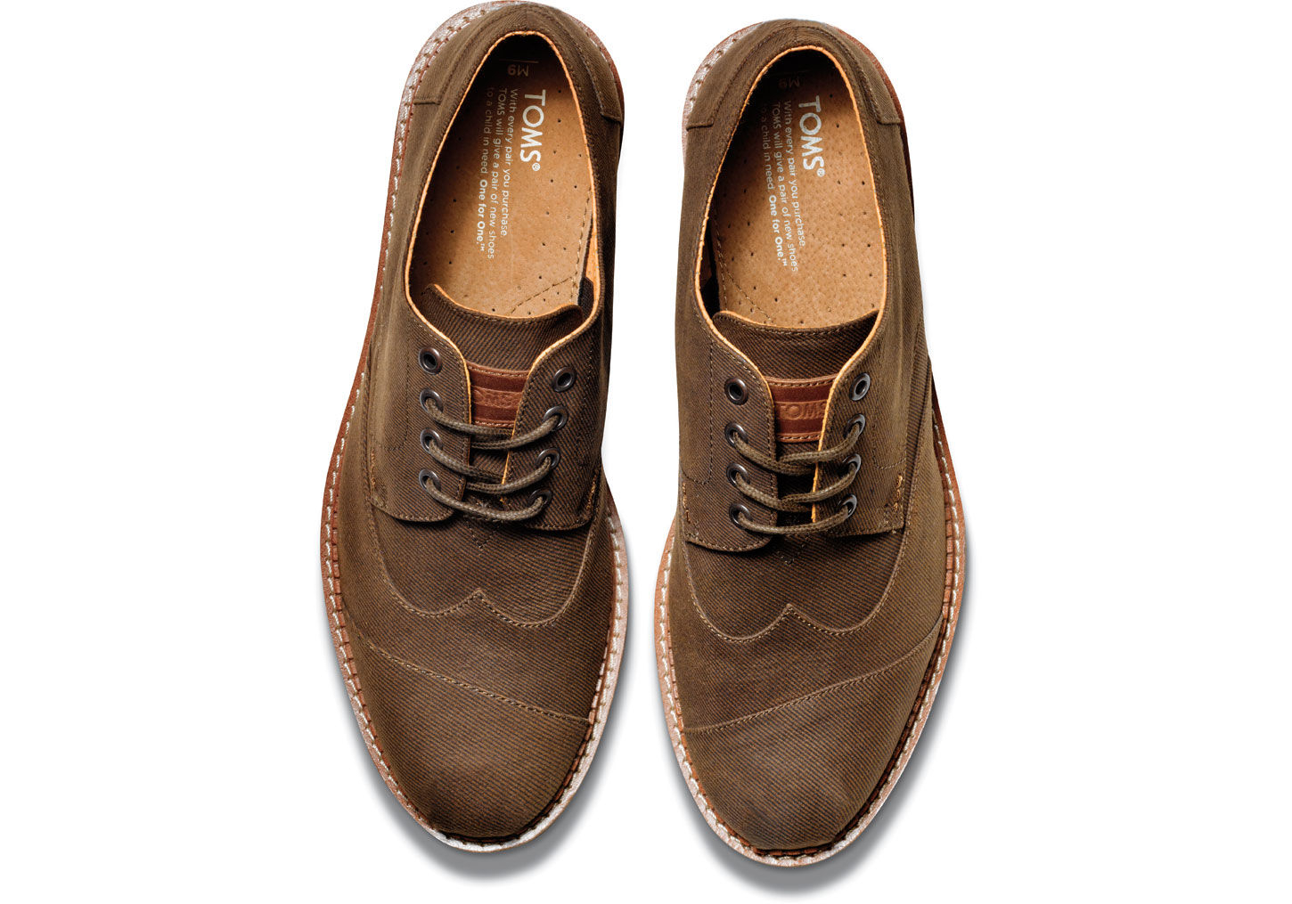 103680f0342 TOMS Chocolate Aviator Twill Men s Brogues in Brown for Men - Lyst