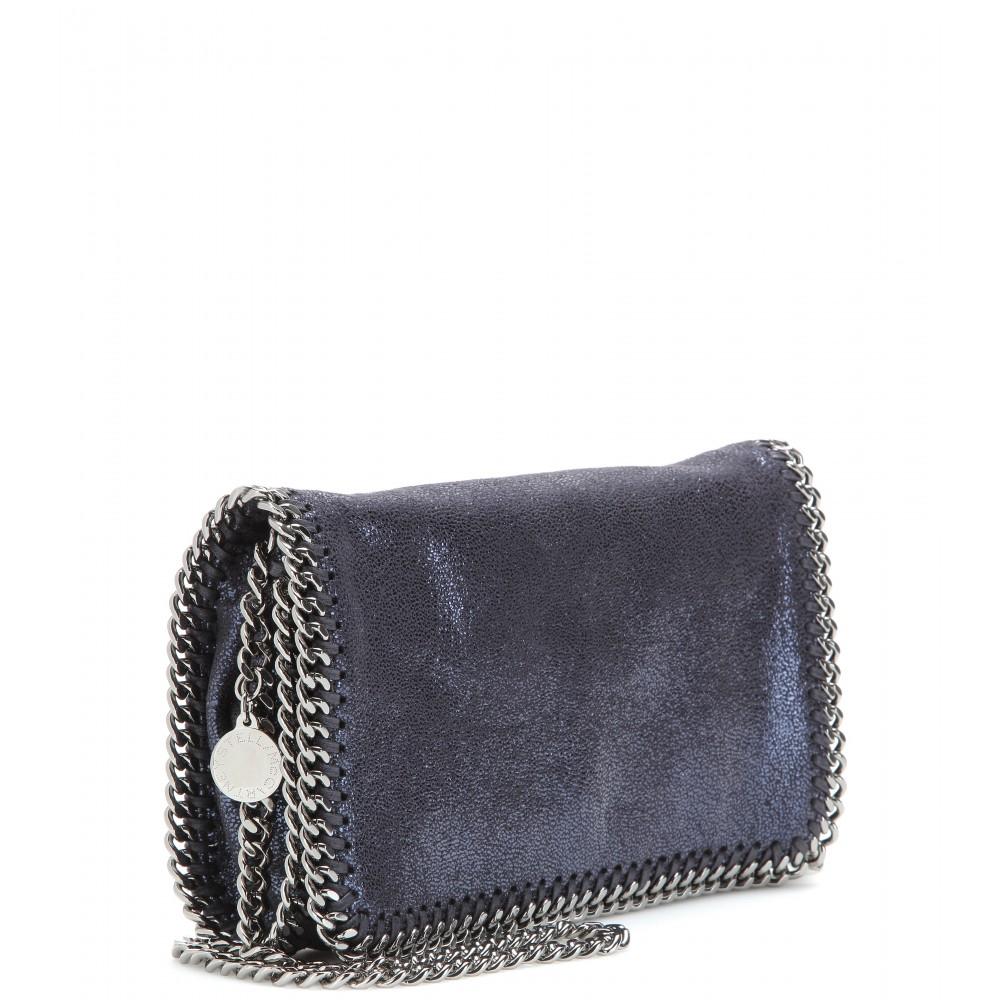 788f80332dc5 Lyst - Stella McCartney Falabella Shaggy Deer Mini Shoulder Bag in Blue