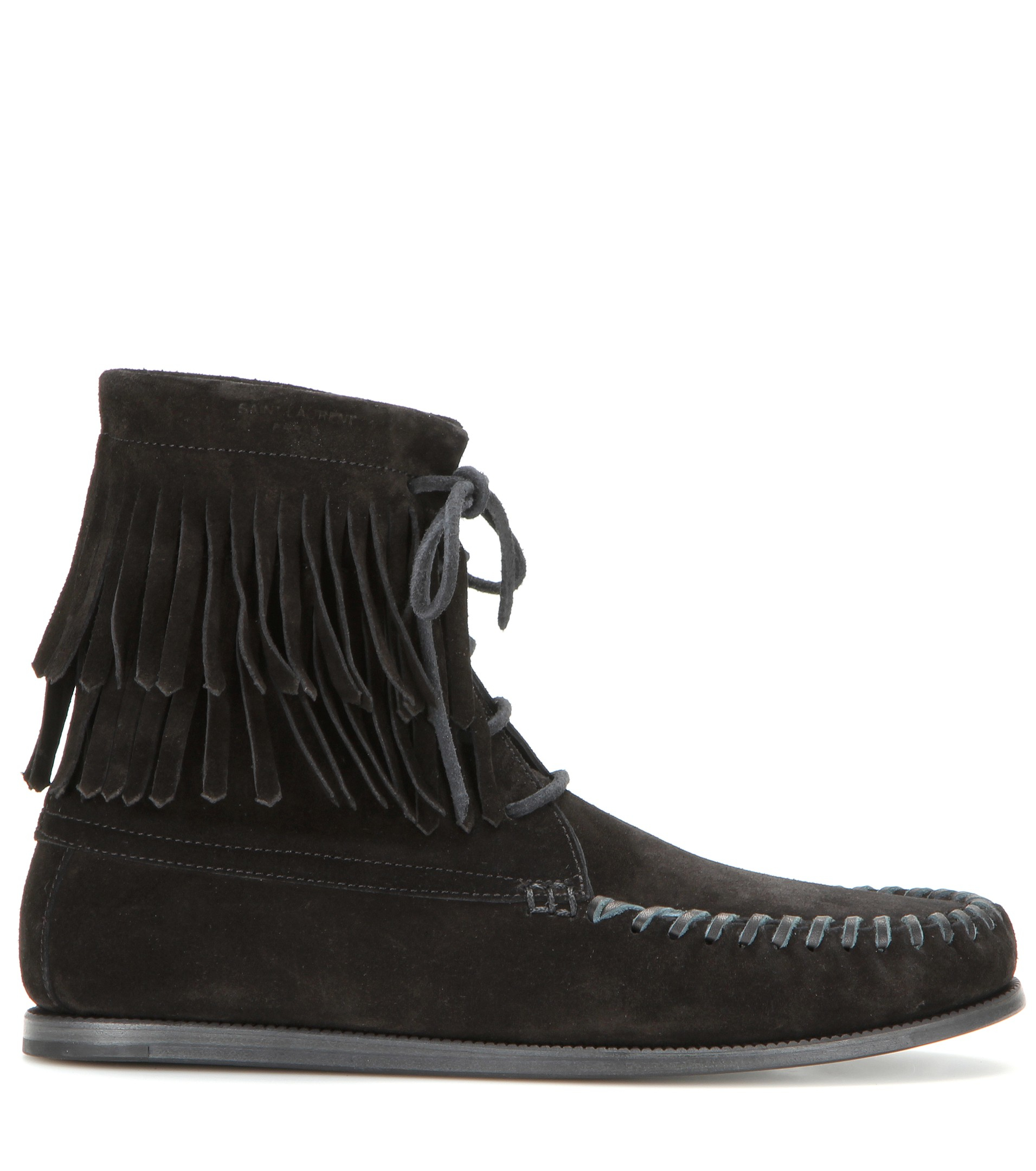 Saint Laurent Suede Fringe Ankle Boots with credit card cheap price free shipping cheap quality ujdjti7Lel