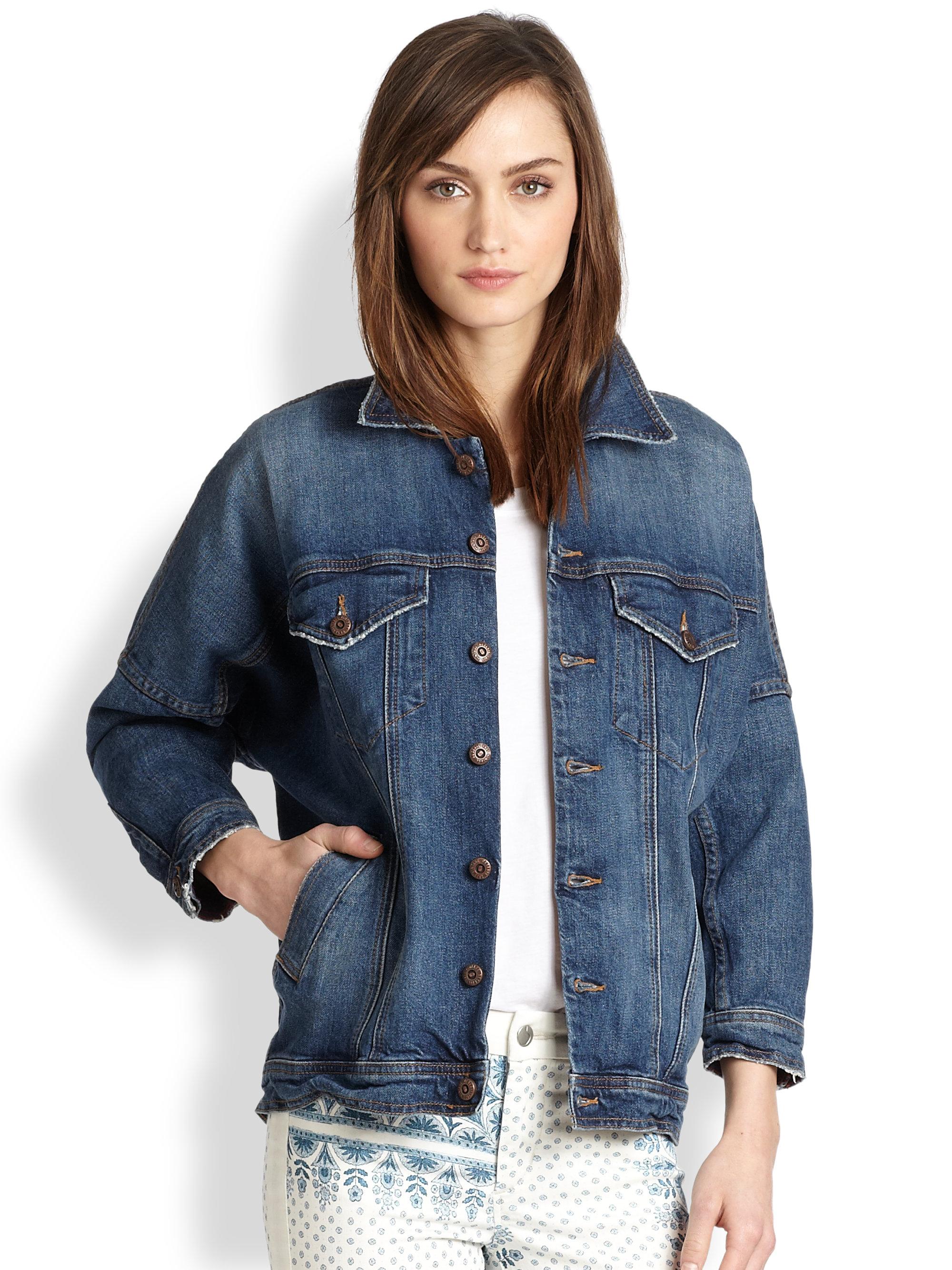 8fd55a77 Joe's Jeans Dolman Sleeved Denim Jacket in Blue - Lyst