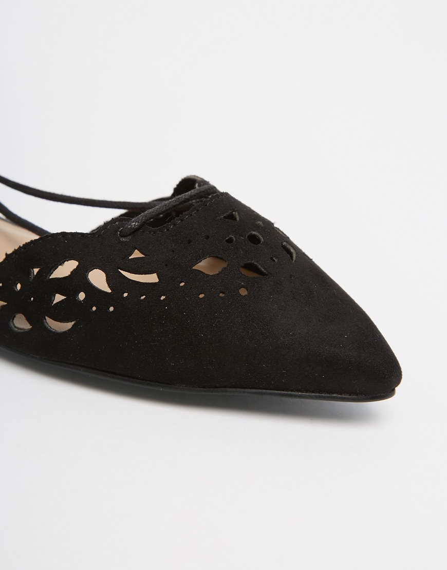 Lyst Aldo Harmony Black Leather Laser Cut Ghillie Lace