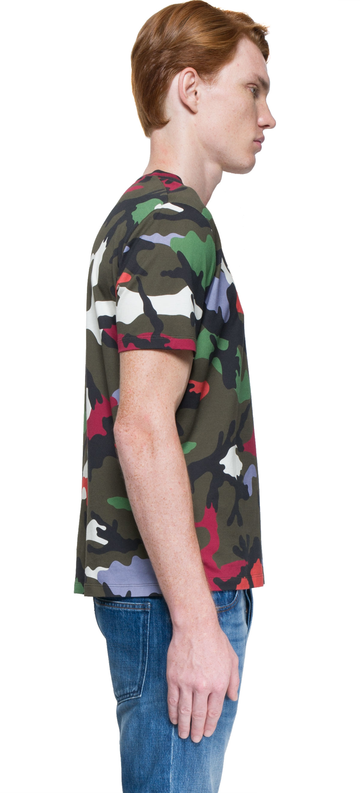 Lyst Valentino Camo Tee In Green For Men