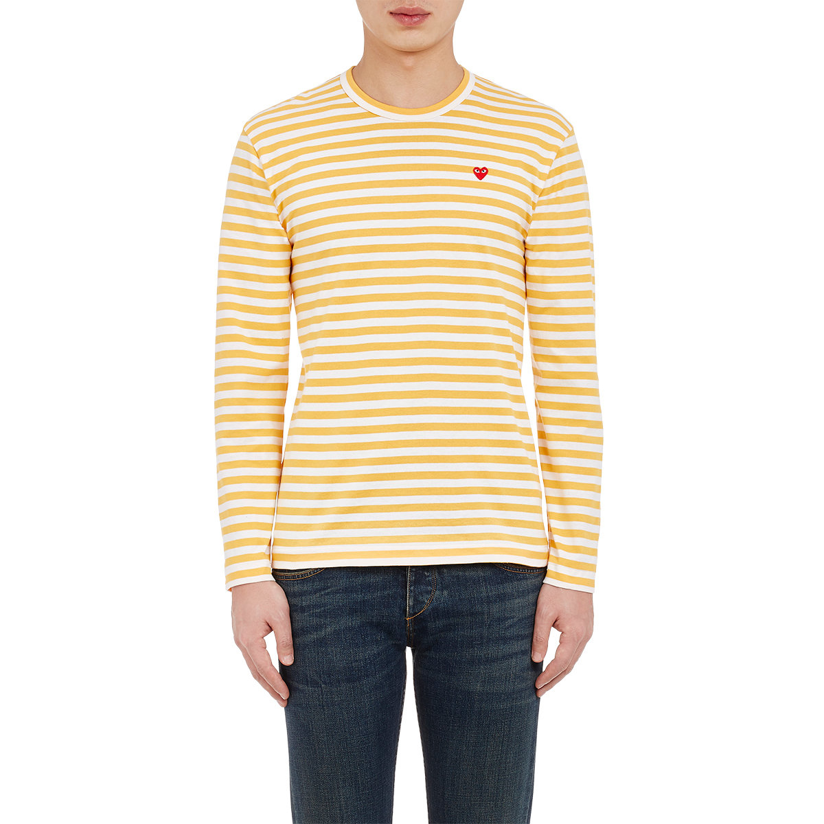 Play comme des gar ons striped long sleeve t shirt in for Mens striped long sleeve t shirt