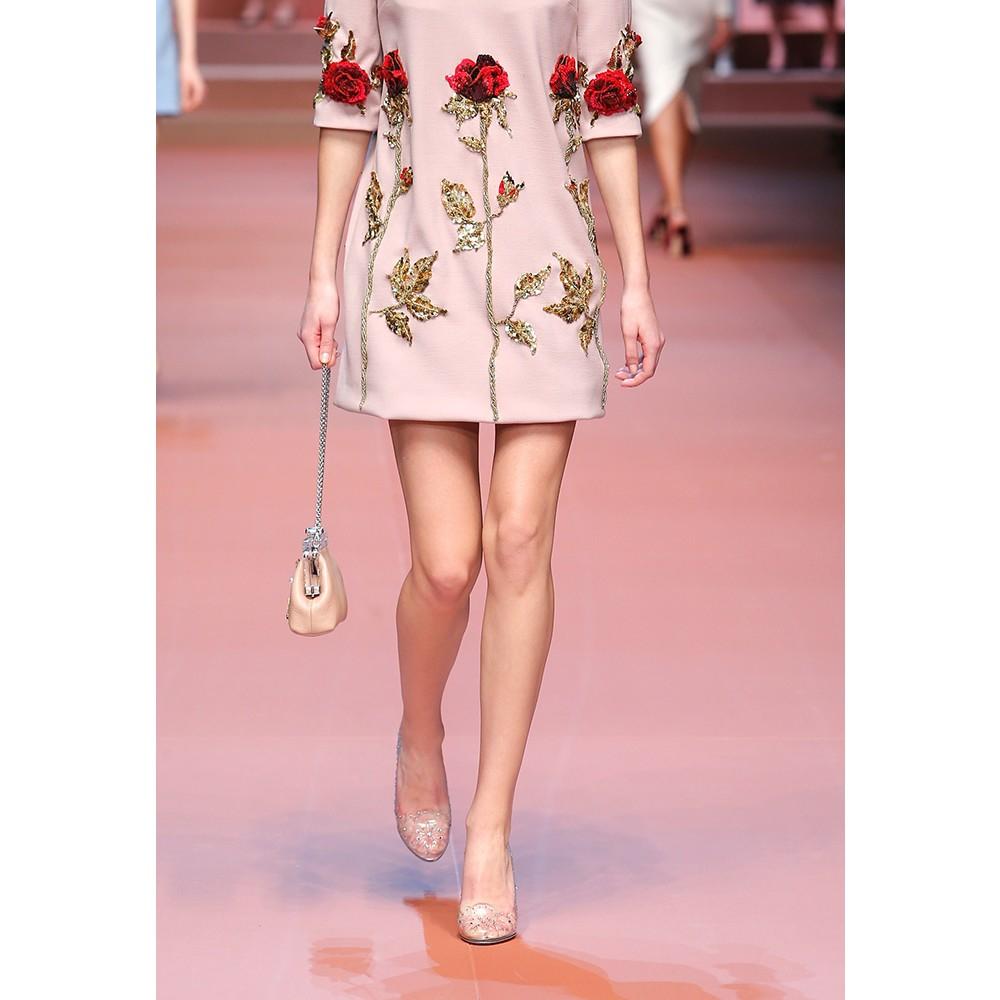 d877664e4ab1 Lyst - Dolce   Gabbana Embellished Transparent Pumps