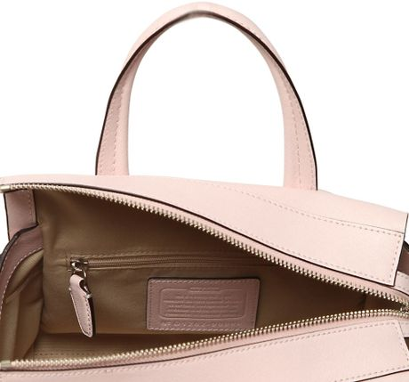 coach bleecker saffiano leather top handle bag in pink. Black Bedroom Furniture Sets. Home Design Ideas
