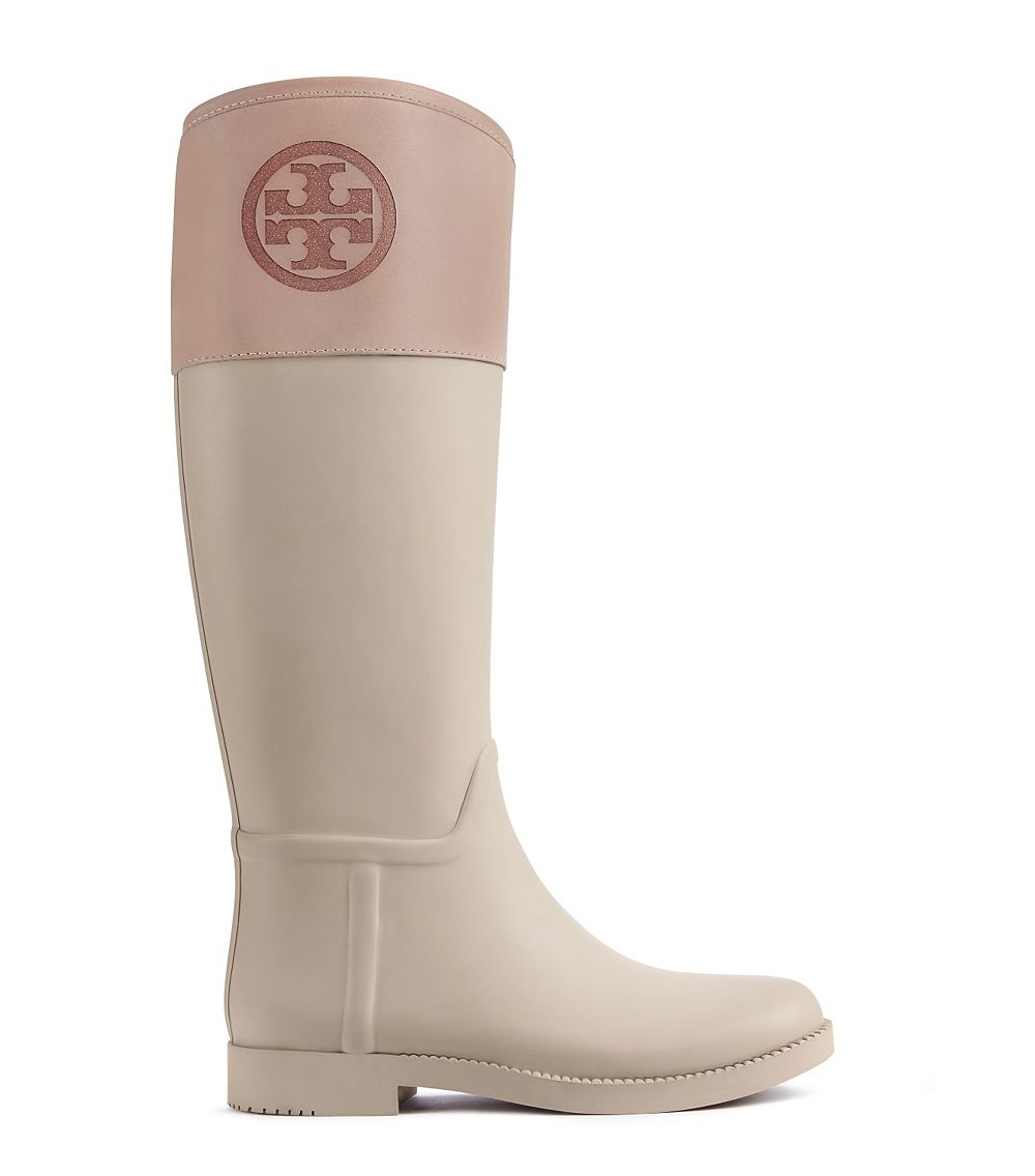 b8a97e8b536f cheap tory burch black boots 1adec f27c7; official lyst tory burch classic  rainboot in natural 3e571 8e43e