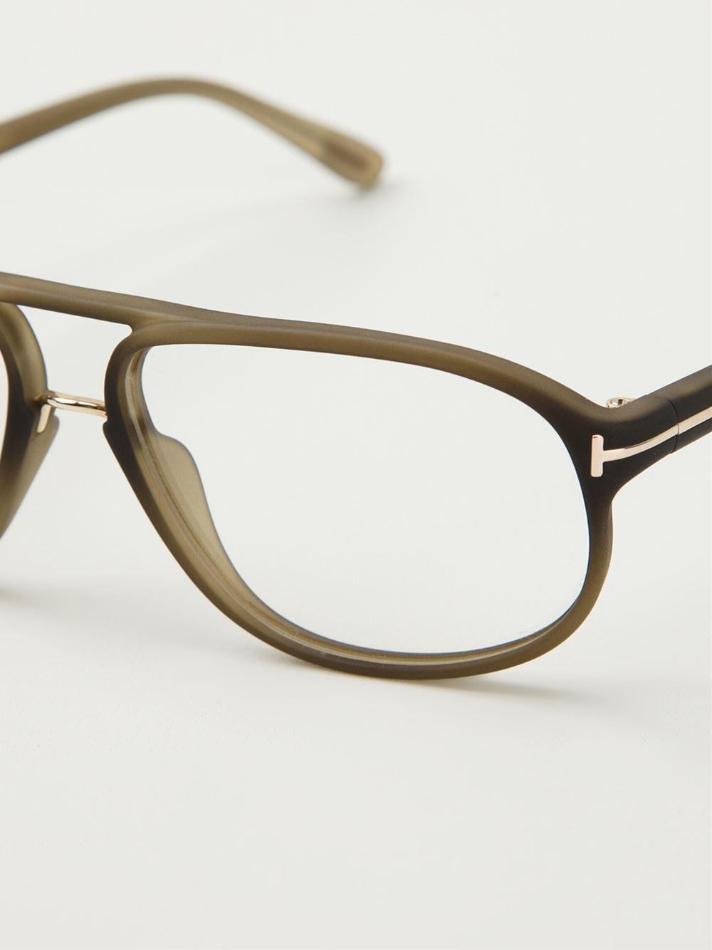 Tom ford Round Frame Glasses in Gray for Men (grey) Lyst