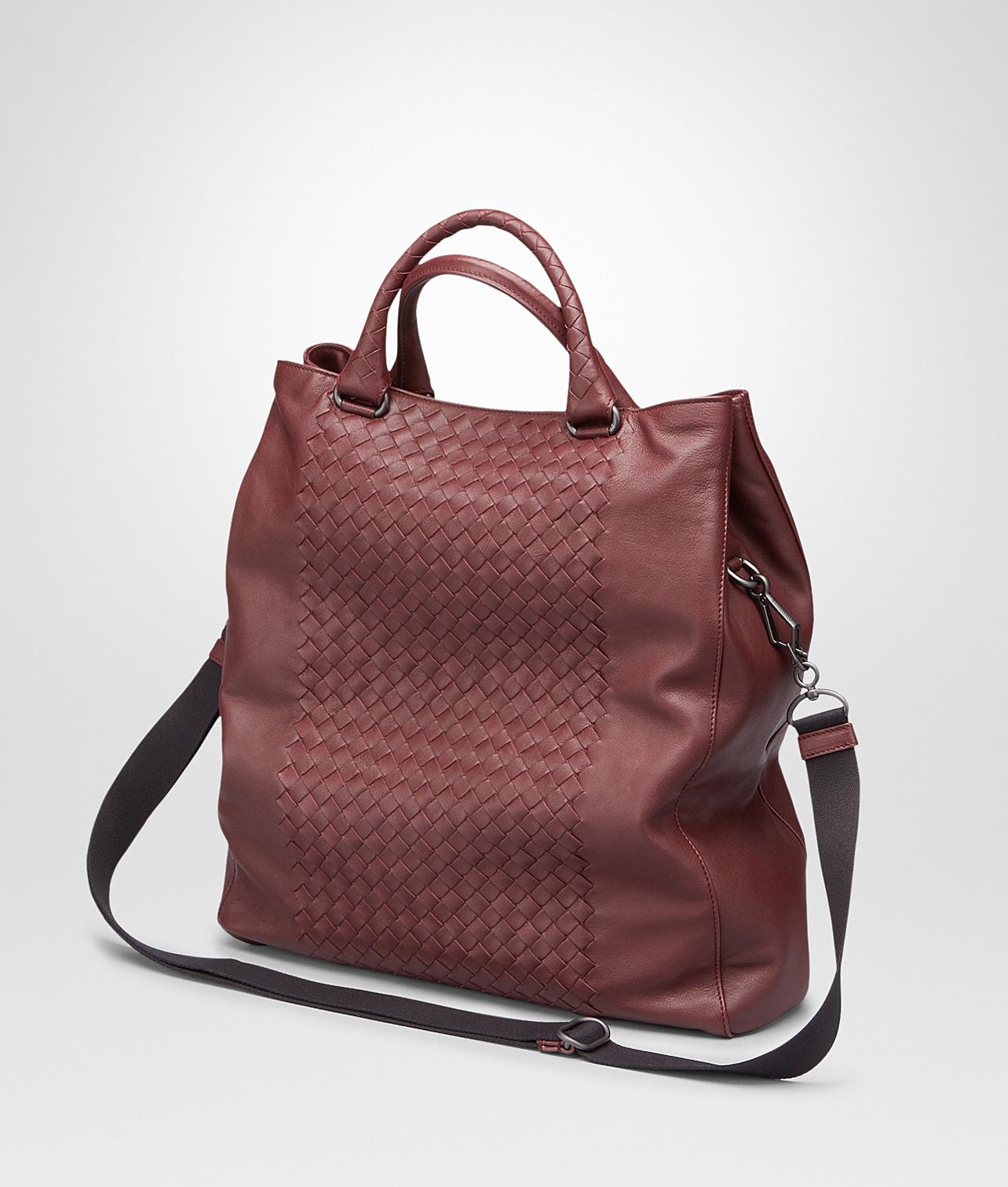 82af3bcc9a94c Bottega Veneta Aubergine Nero Intrecciato Washed Nappa Tote Bag in ...