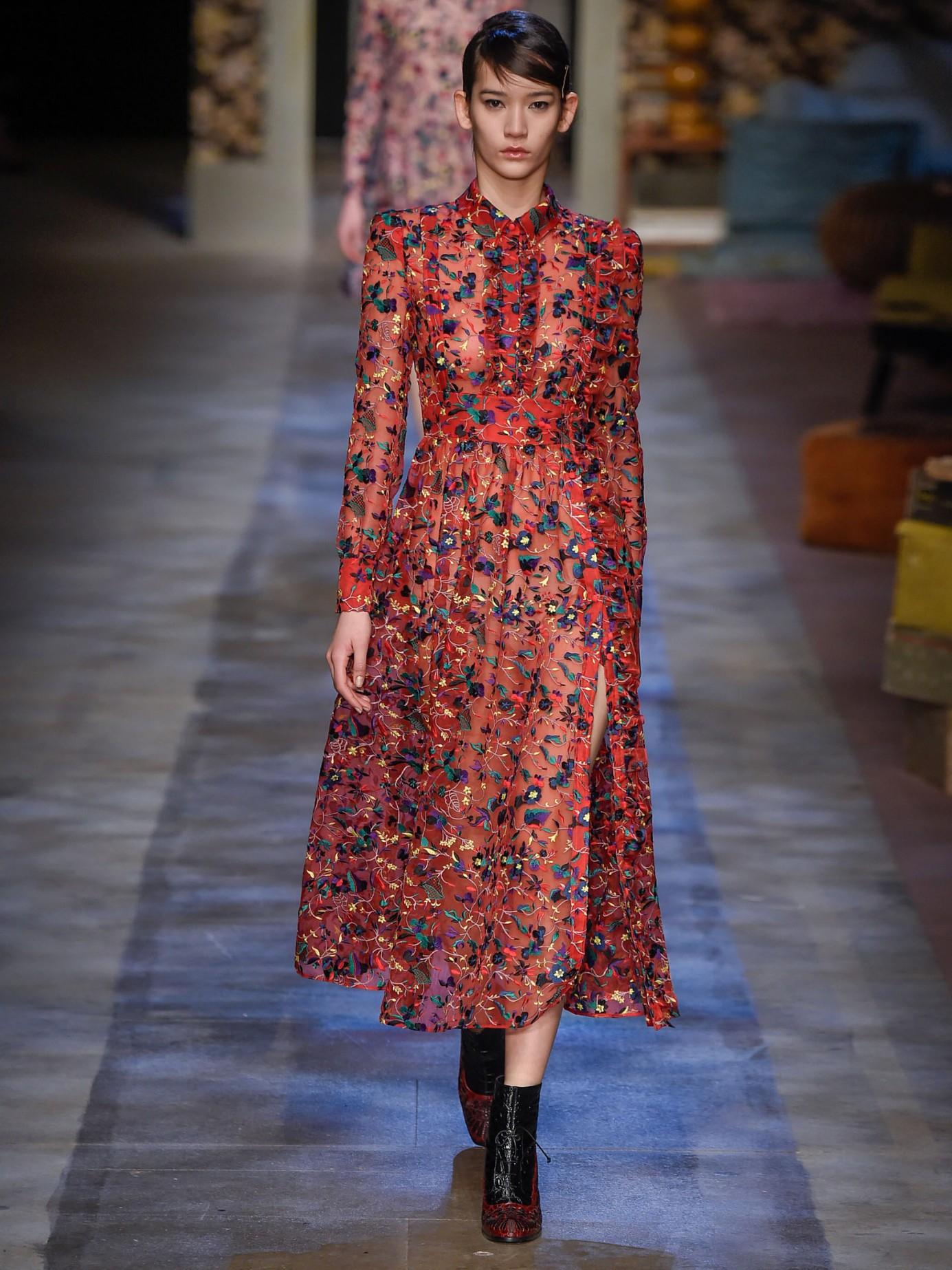 Erdem Cameron Silk Organza Dress In Red Lyst
