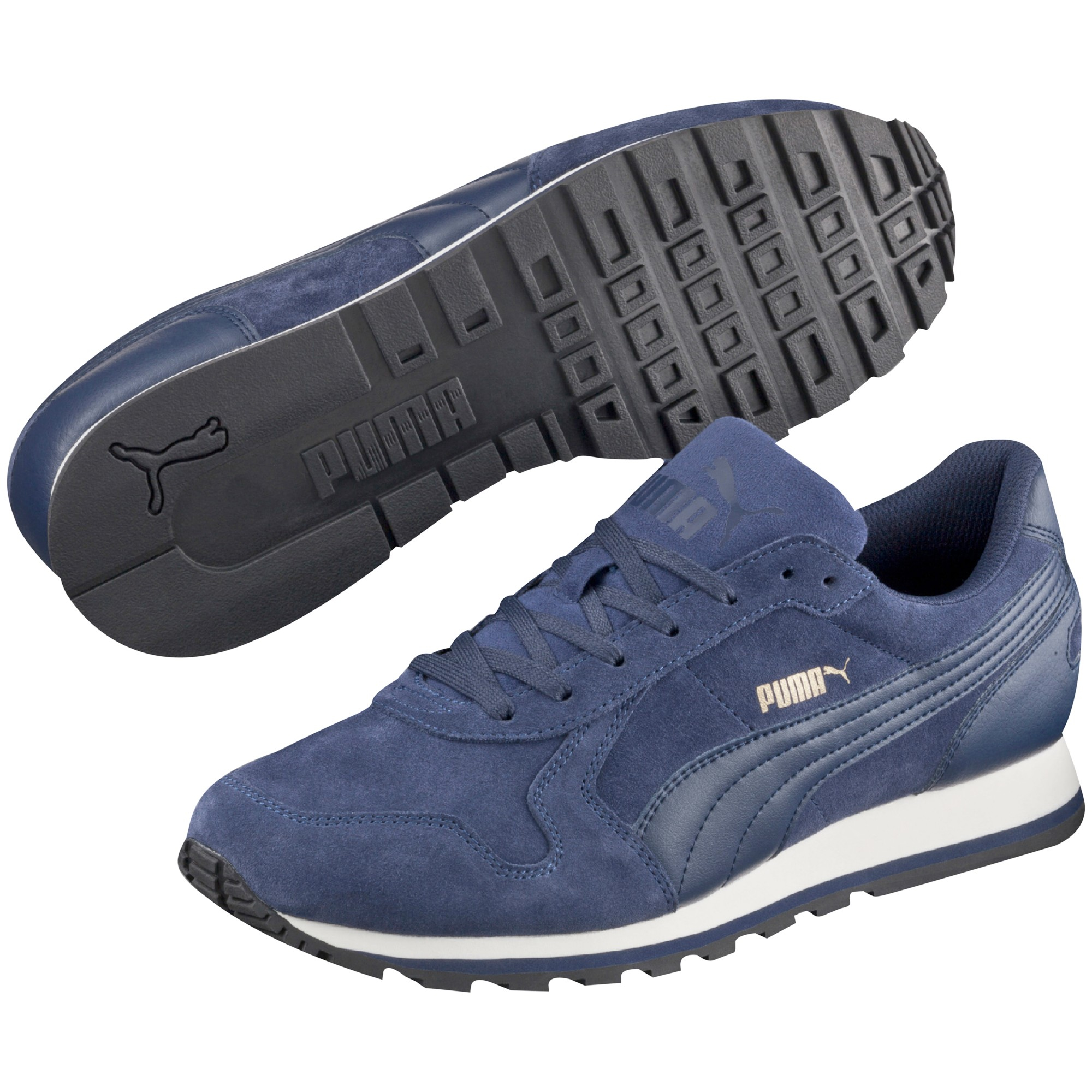 PUMA St Runner Suede Trainers in Blue for Men - Lyst e00bb092c