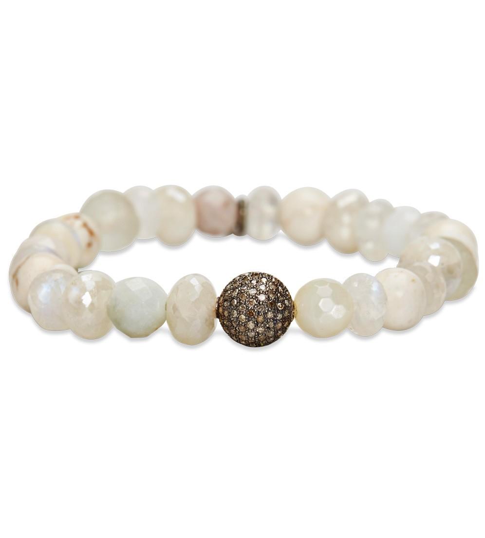 04e7c823001 Sheryl Lowe African Beaded Bracelet in White - Lyst