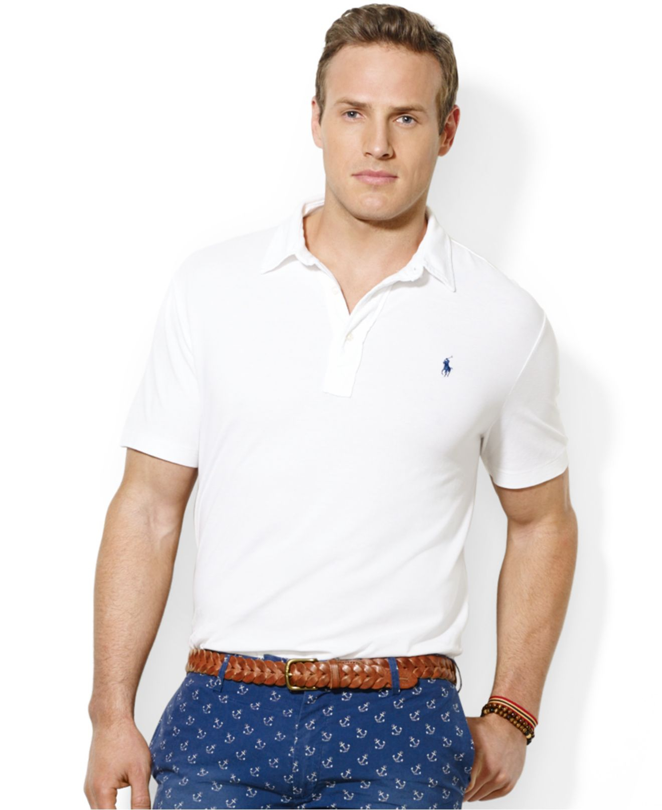 e1aa0847fb5 Lyst - Polo Ralph Lauren Polo Big and Tall Solid Featherweight Mesh ...