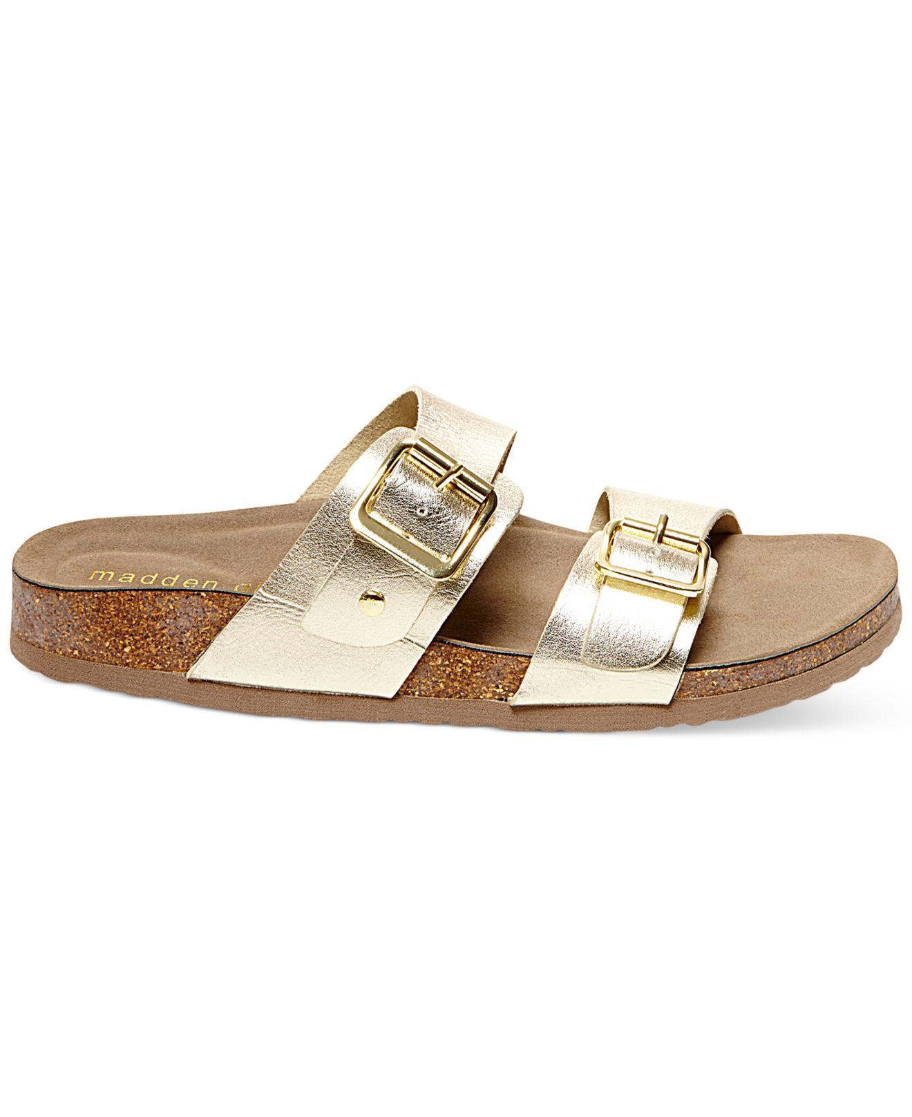 638f6abb099f Lyst - Madden Girl Brando Footbed Sandals in Metallic