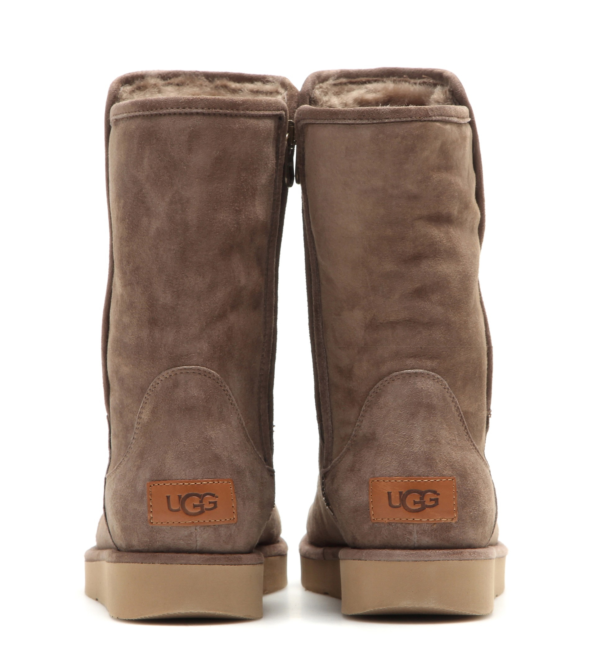 4d7f384306ef UGG Abree Leather Ankle Boots in Brown - Lyst