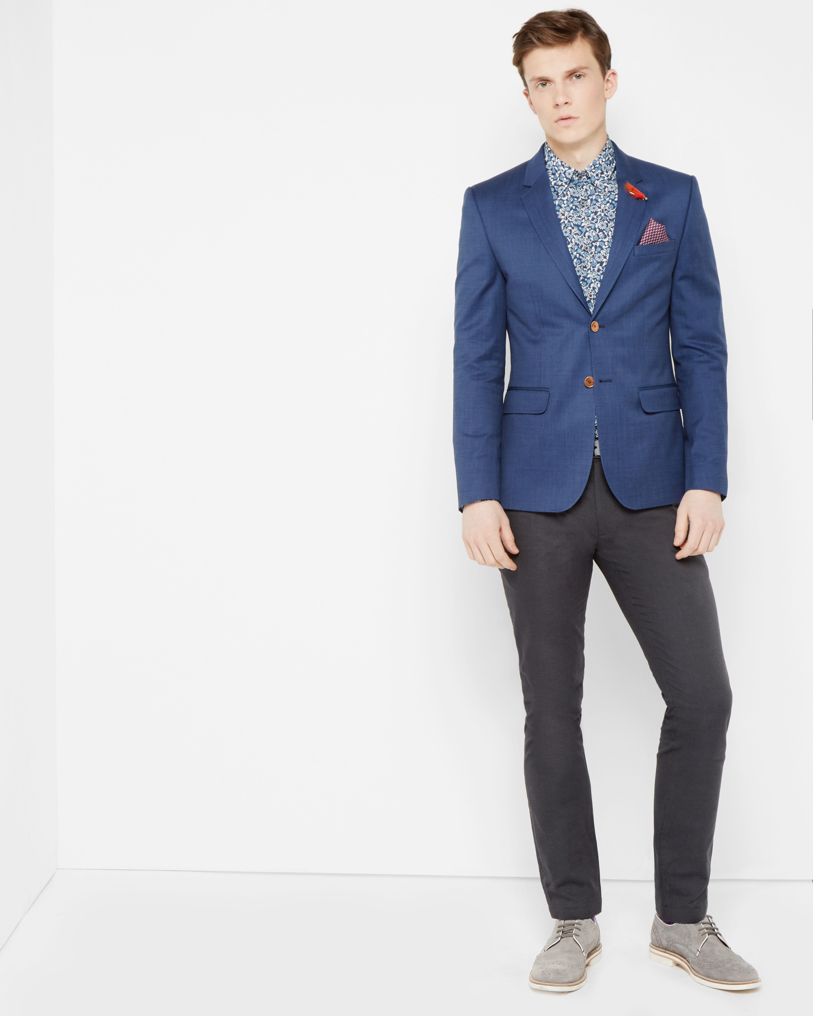 3e0b81739 Lyst - Ted Baker Tight Lines Jacket in Blue for Men