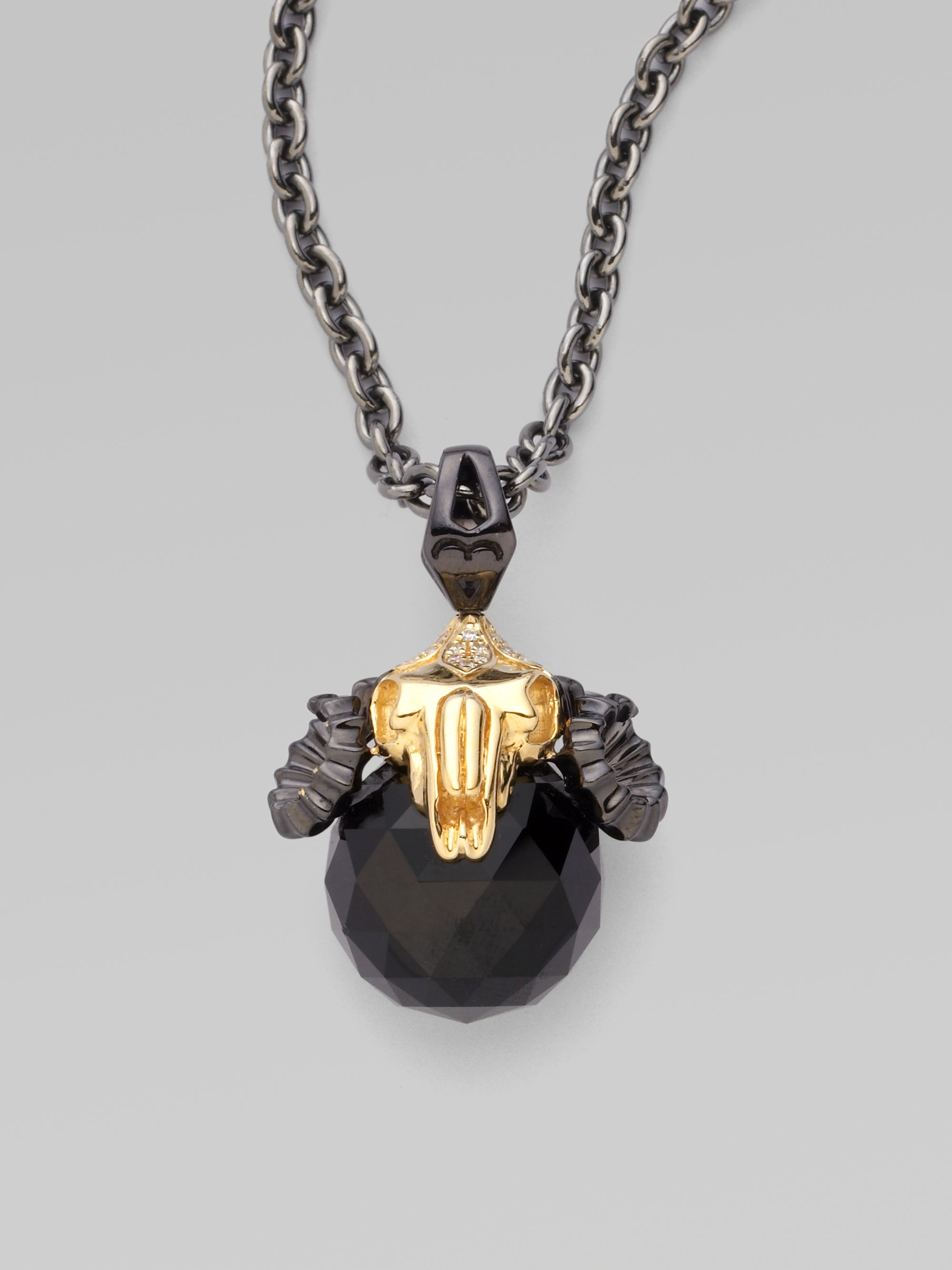 lyst stephen webster aries astro pendant necklace in black