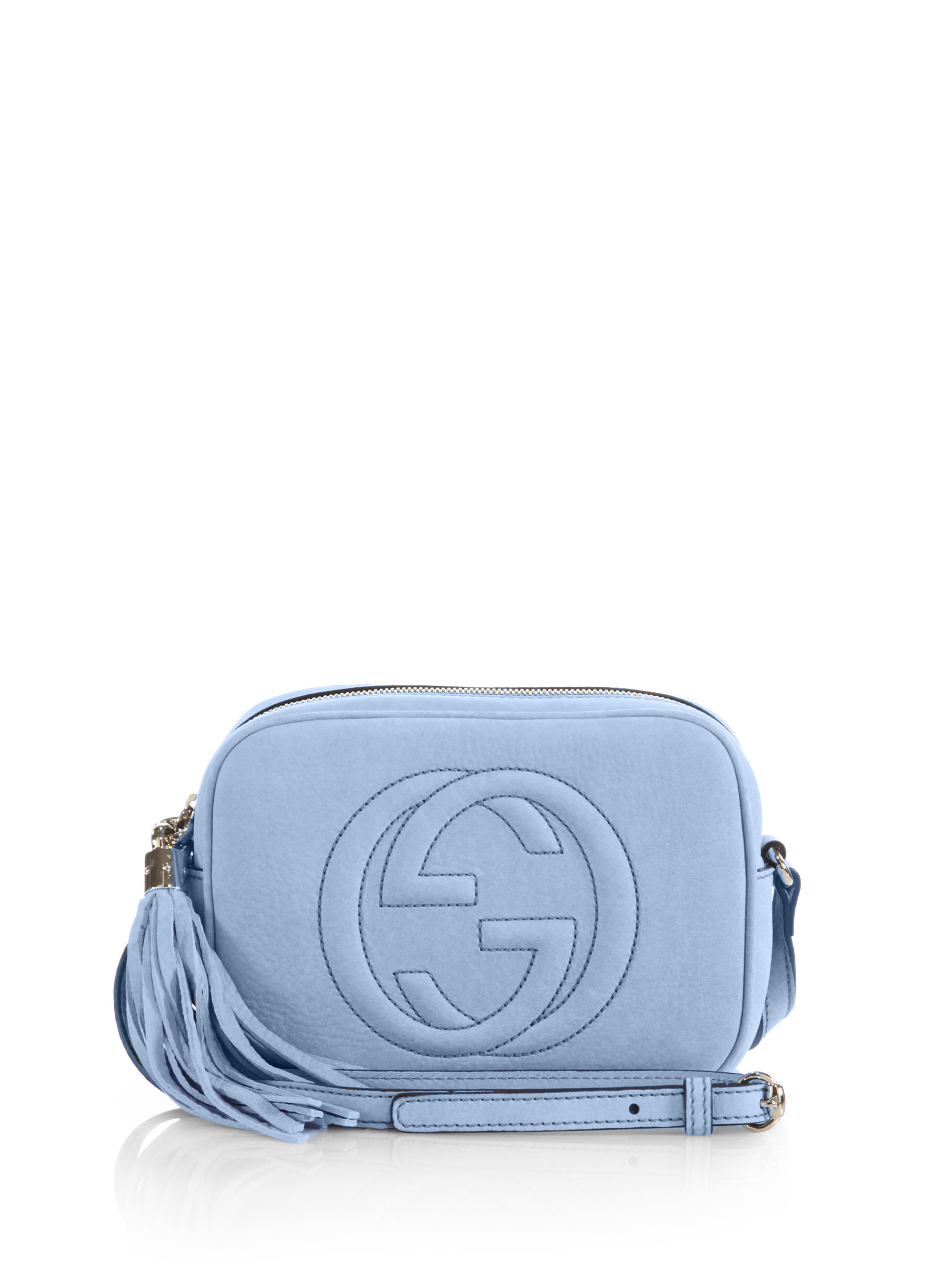 96b64f230d08 Gucci Soho Nubuck Leather Disco Bag in Blue - Lyst