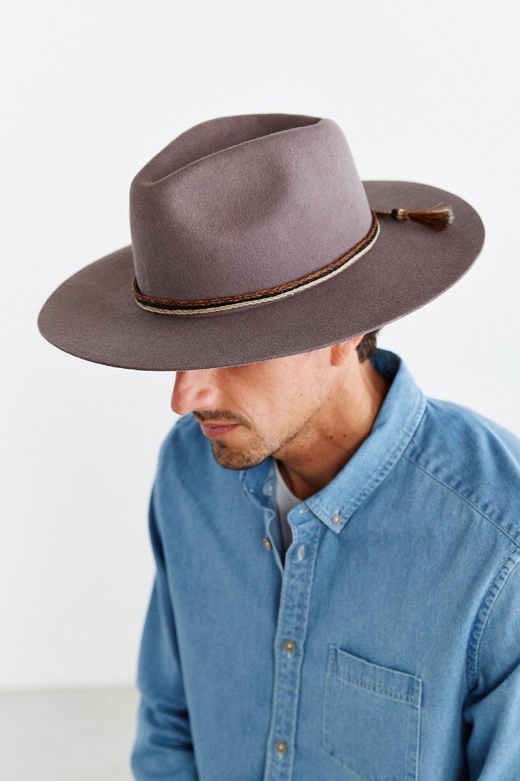 Brixton Men S Field Wide Brim Felt Fedora Hat - Hat HD Image Ukjugs.Org 9f34103d35e