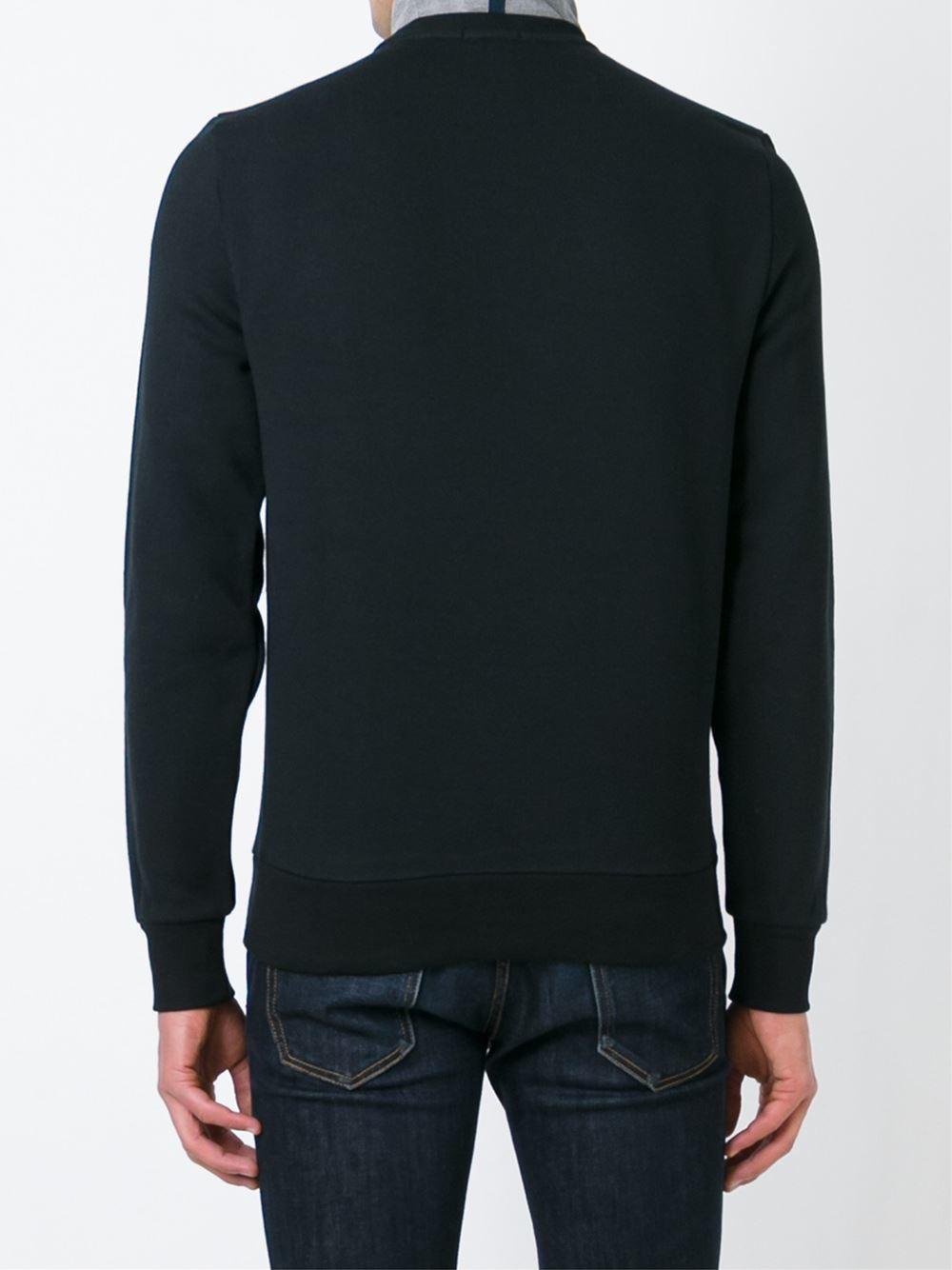 Lyst Moncler Logo Print Sweatshirt In Black For Men