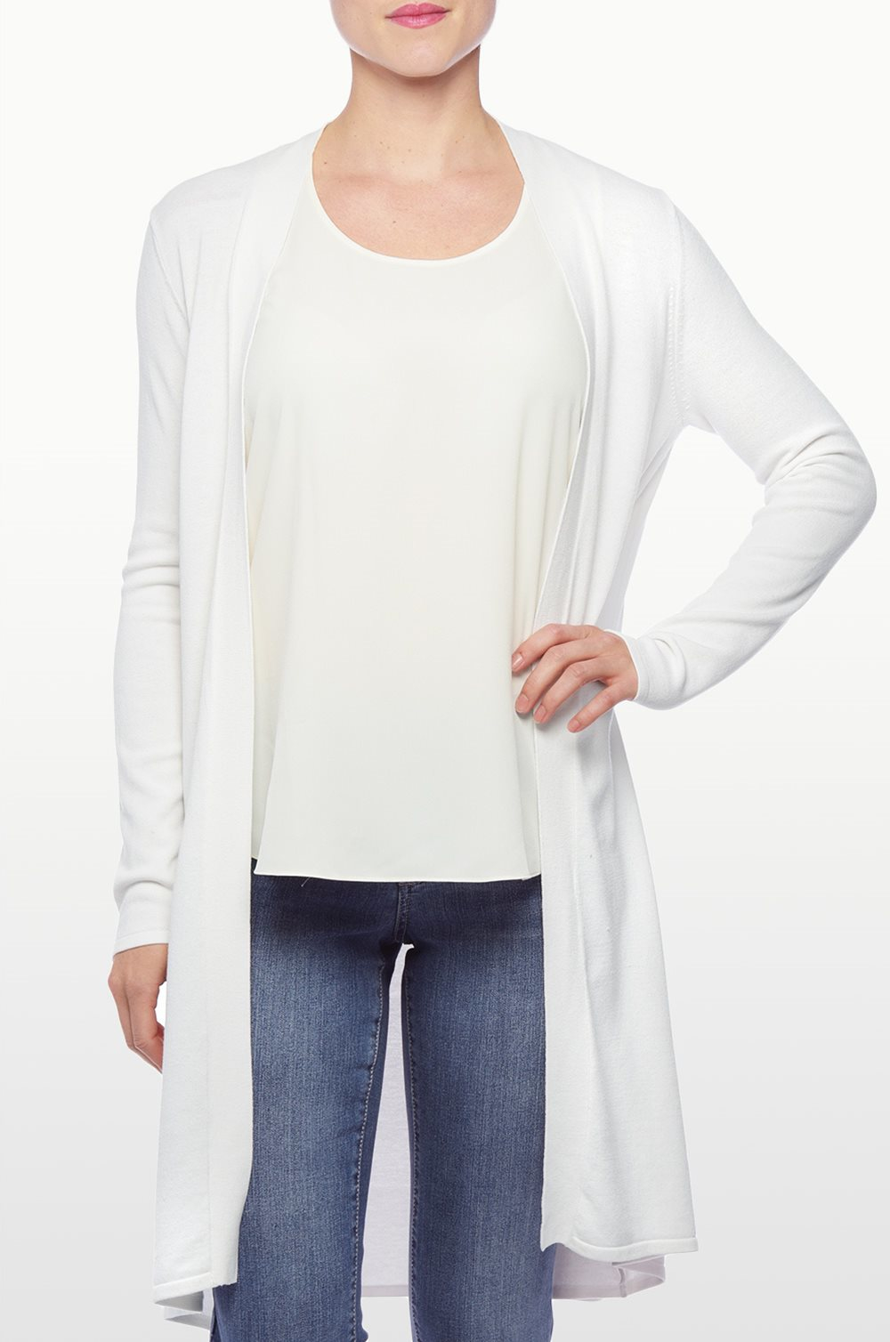 Nydj Duster Cardigan in White | Lyst