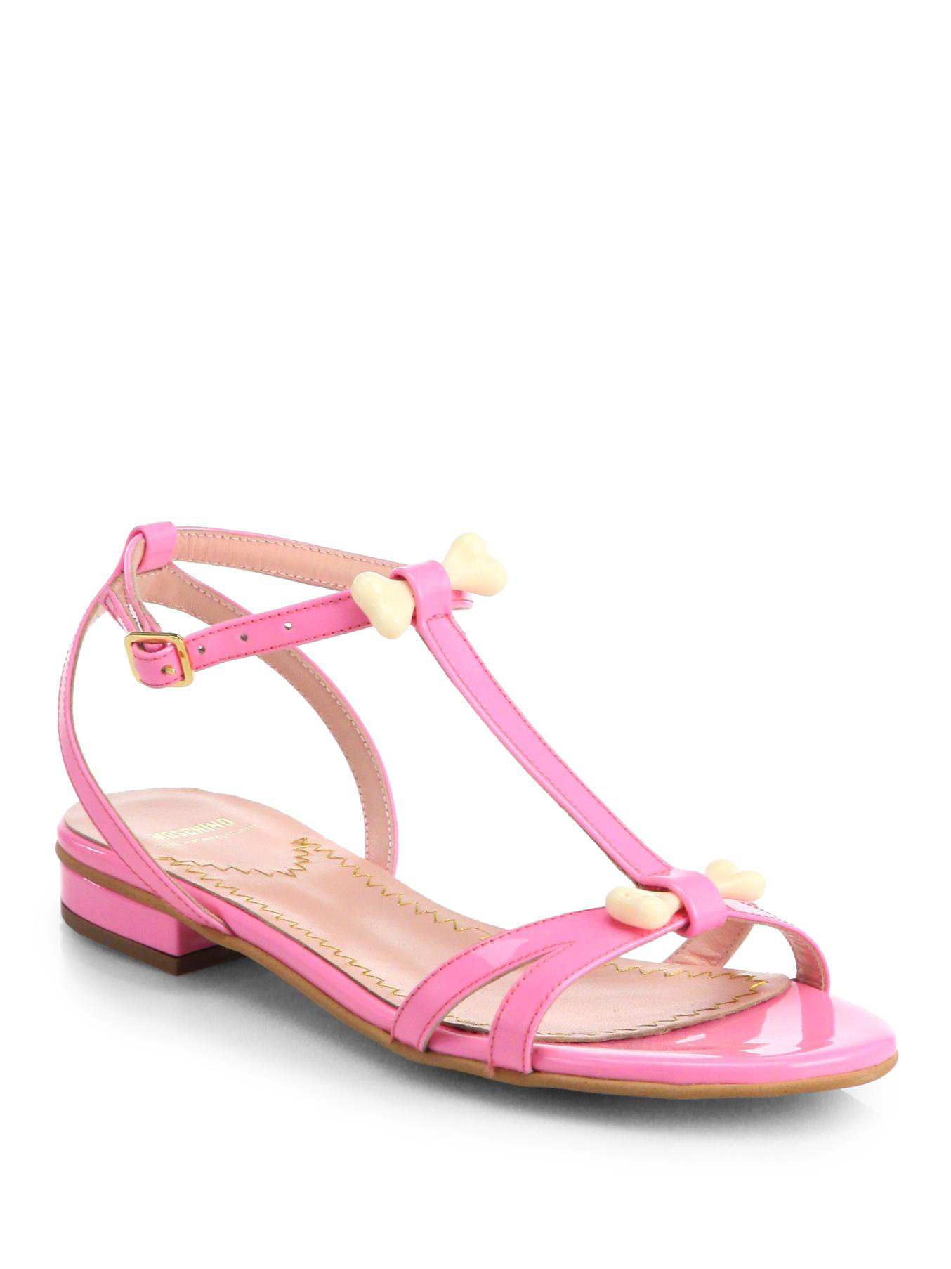 discount marketable with mastercard Moschino Cheap and Chic Embellished Leather Sandals cheap sale under $60 Kd2PjjY4tc