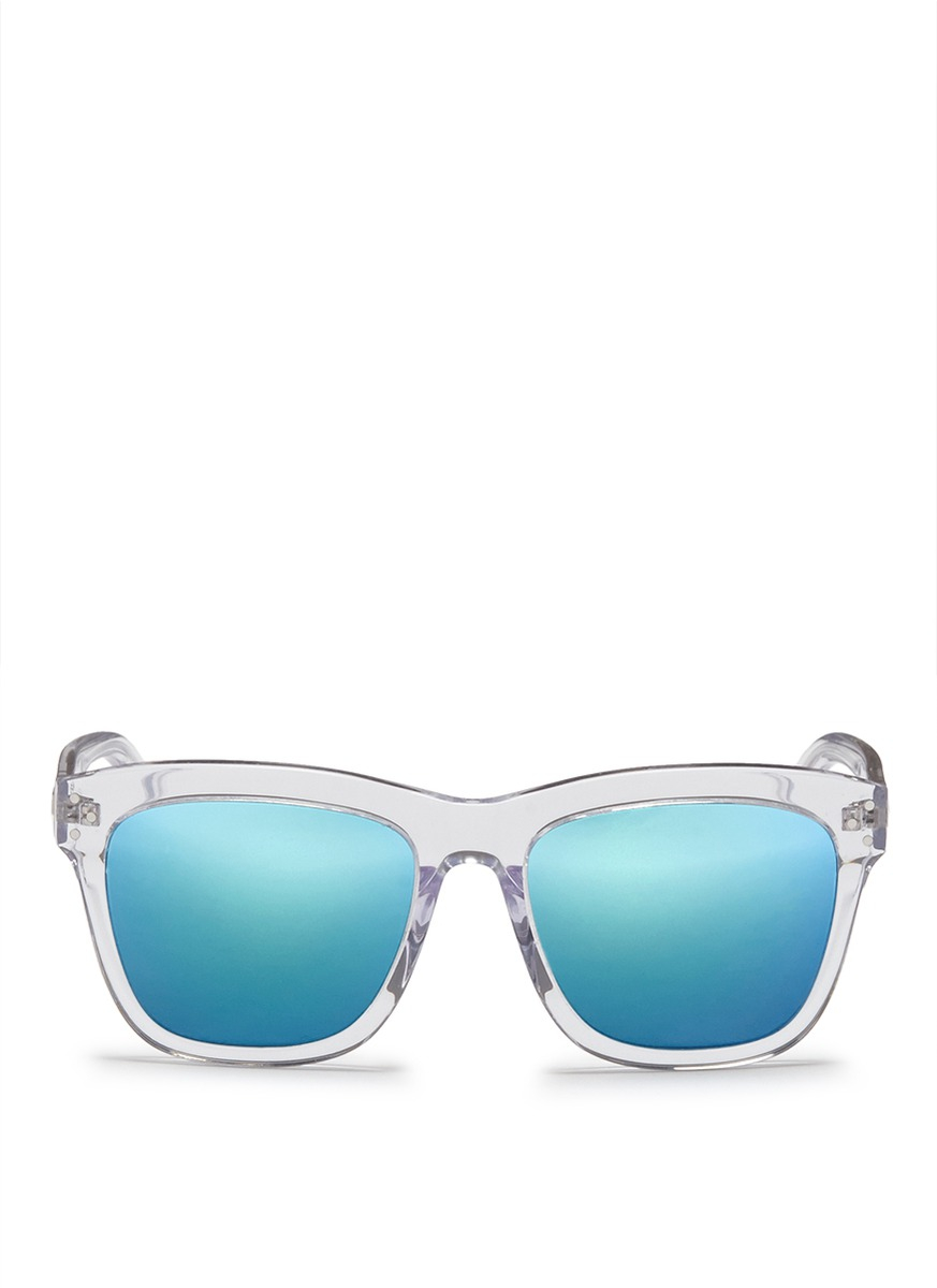 24c39328caf Lyst - Spektre  Milano  Clear Acetate Mirror Sunglasses in Blue