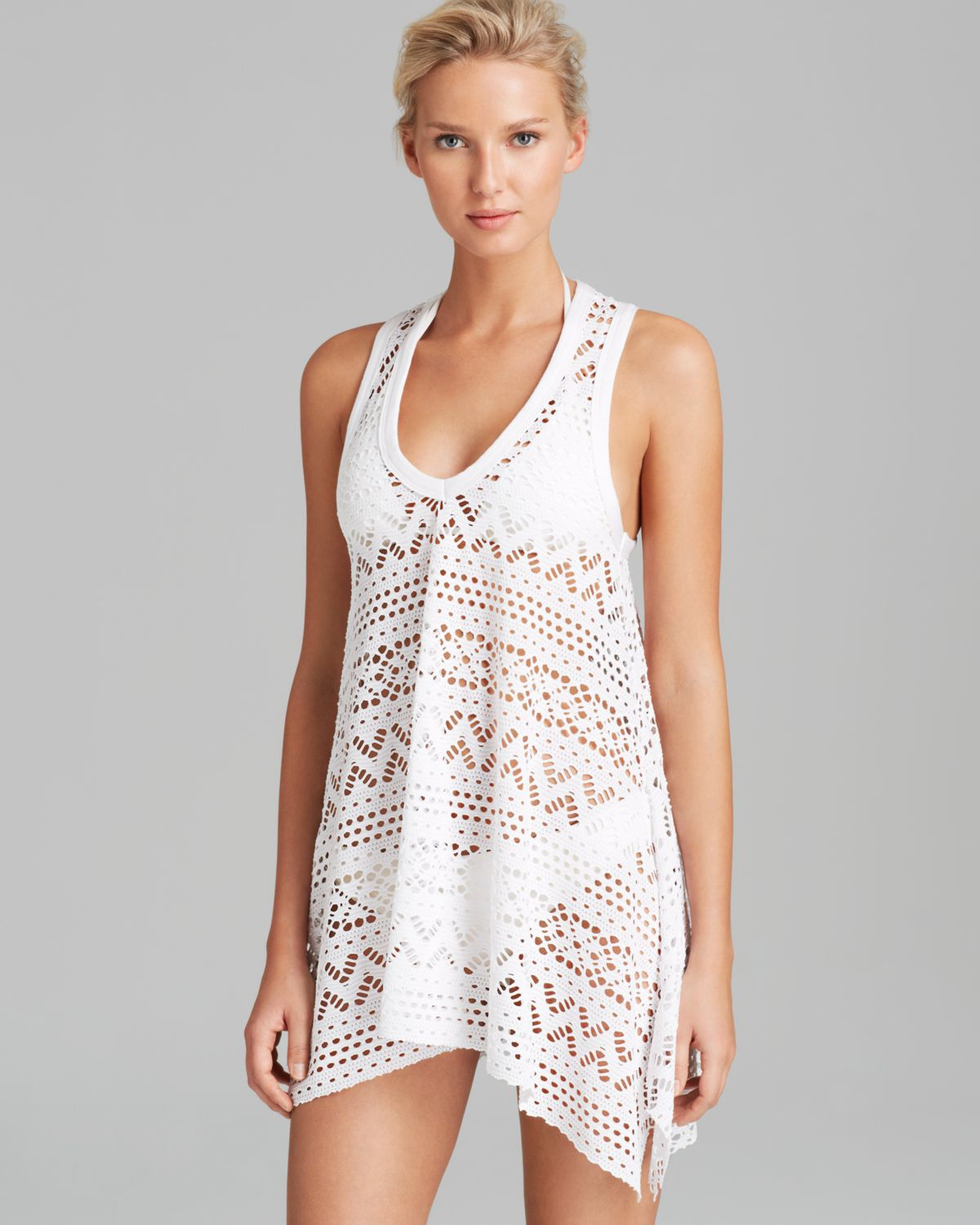 Robin Piccone Penelope Crochet Dress Swim Cover Up In White Lyst