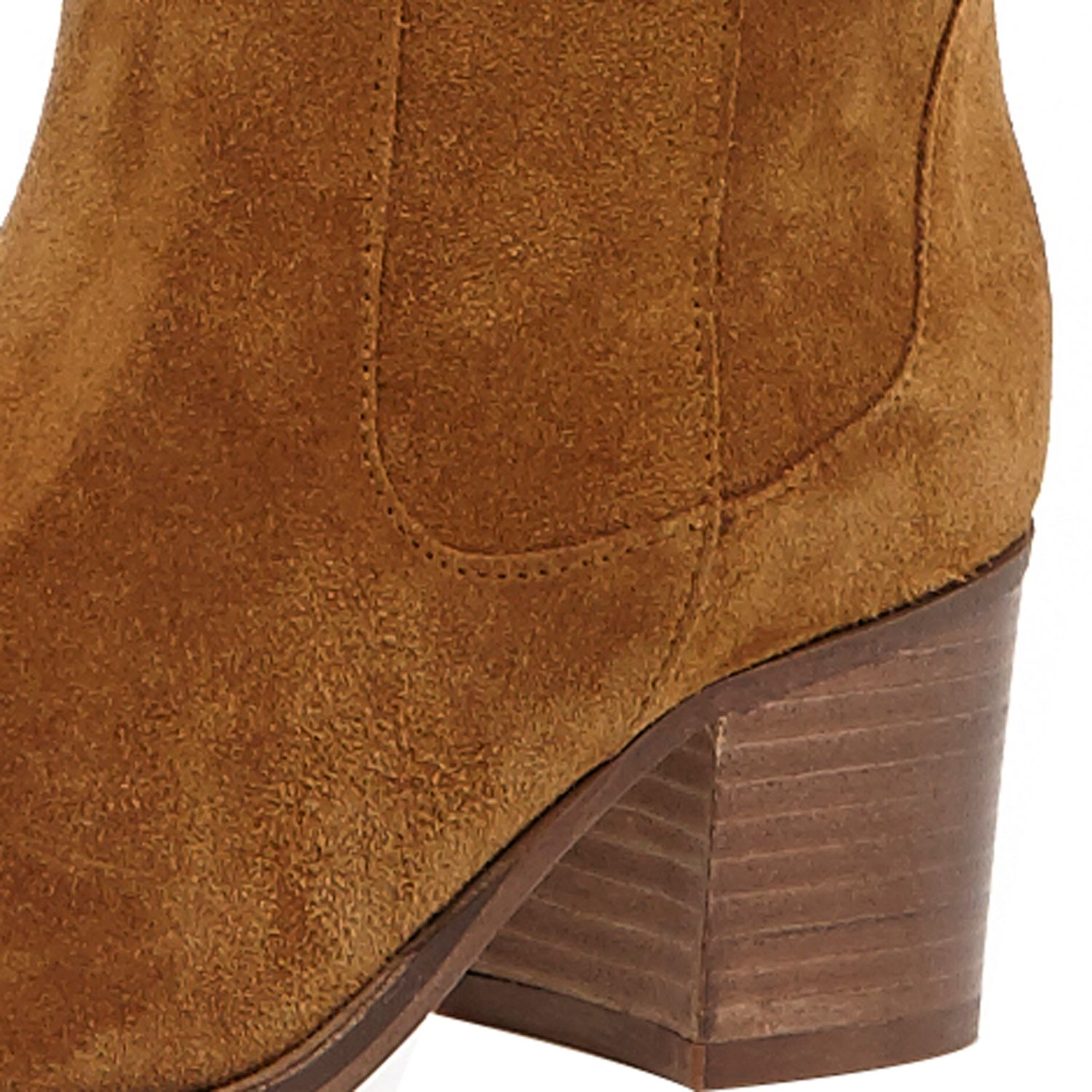 River Island Tan Brown Suede Knee High Boots In Brown Lyst