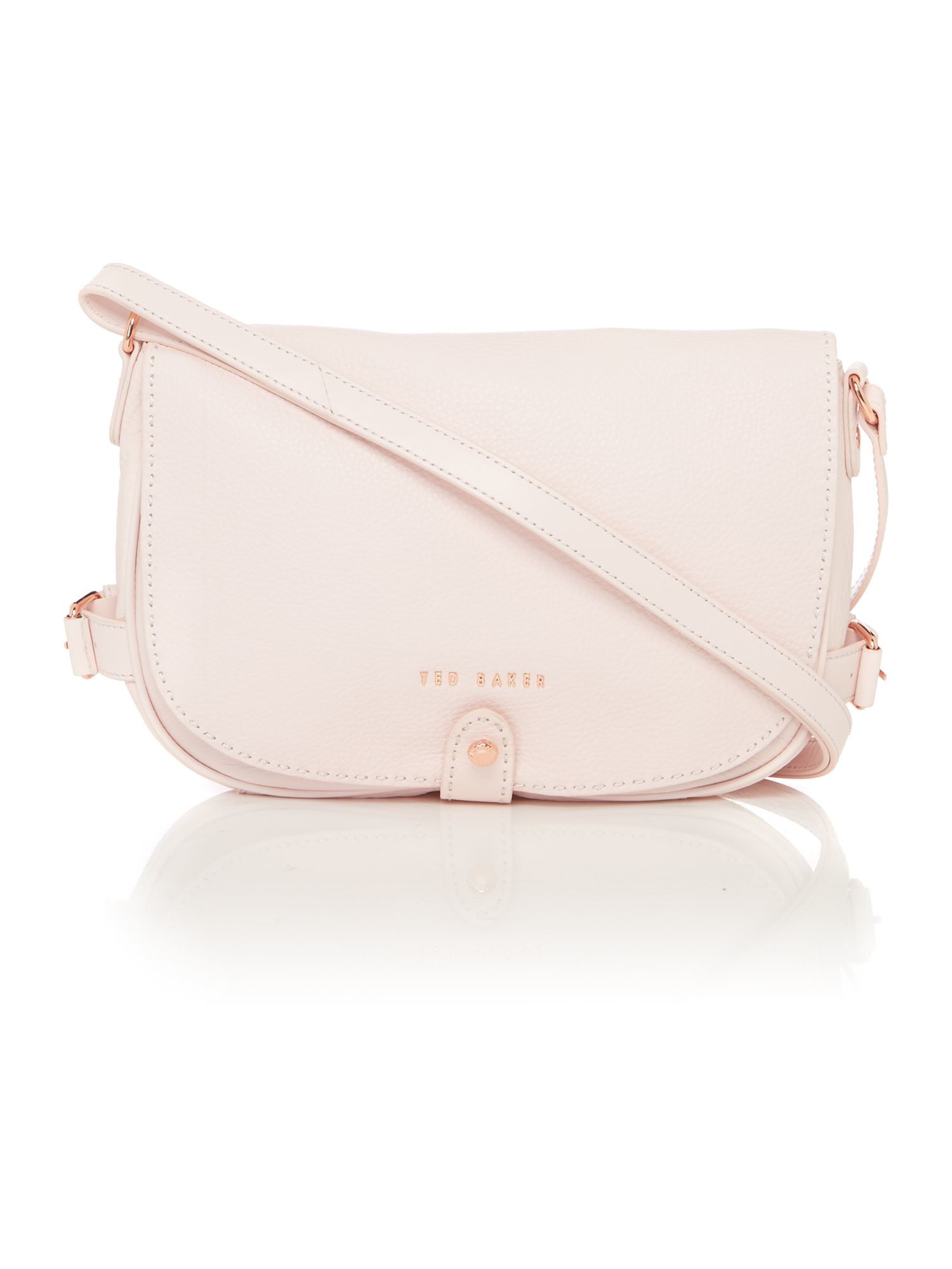 4a7bdcdbb2c Ted baker Regan Light Pink Leather Shoulder Bag in Pink