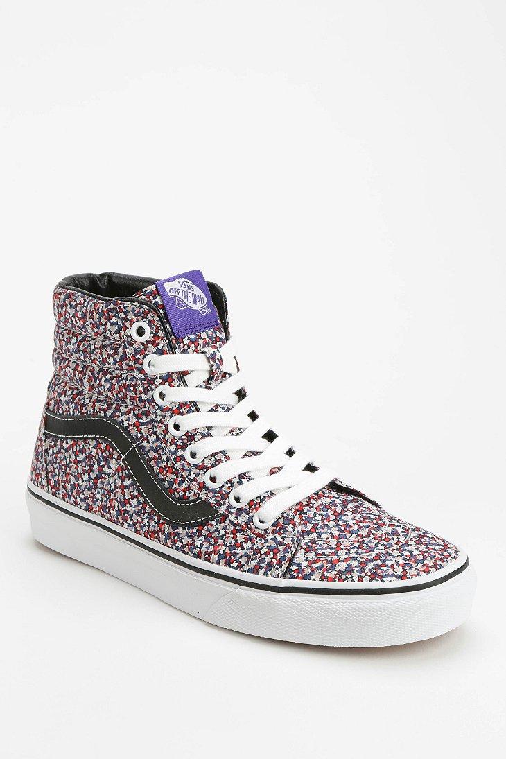 44c50e22874b Lyst - Vans Sk8-Hi Micro-Floral Women S Sneaker in Pink