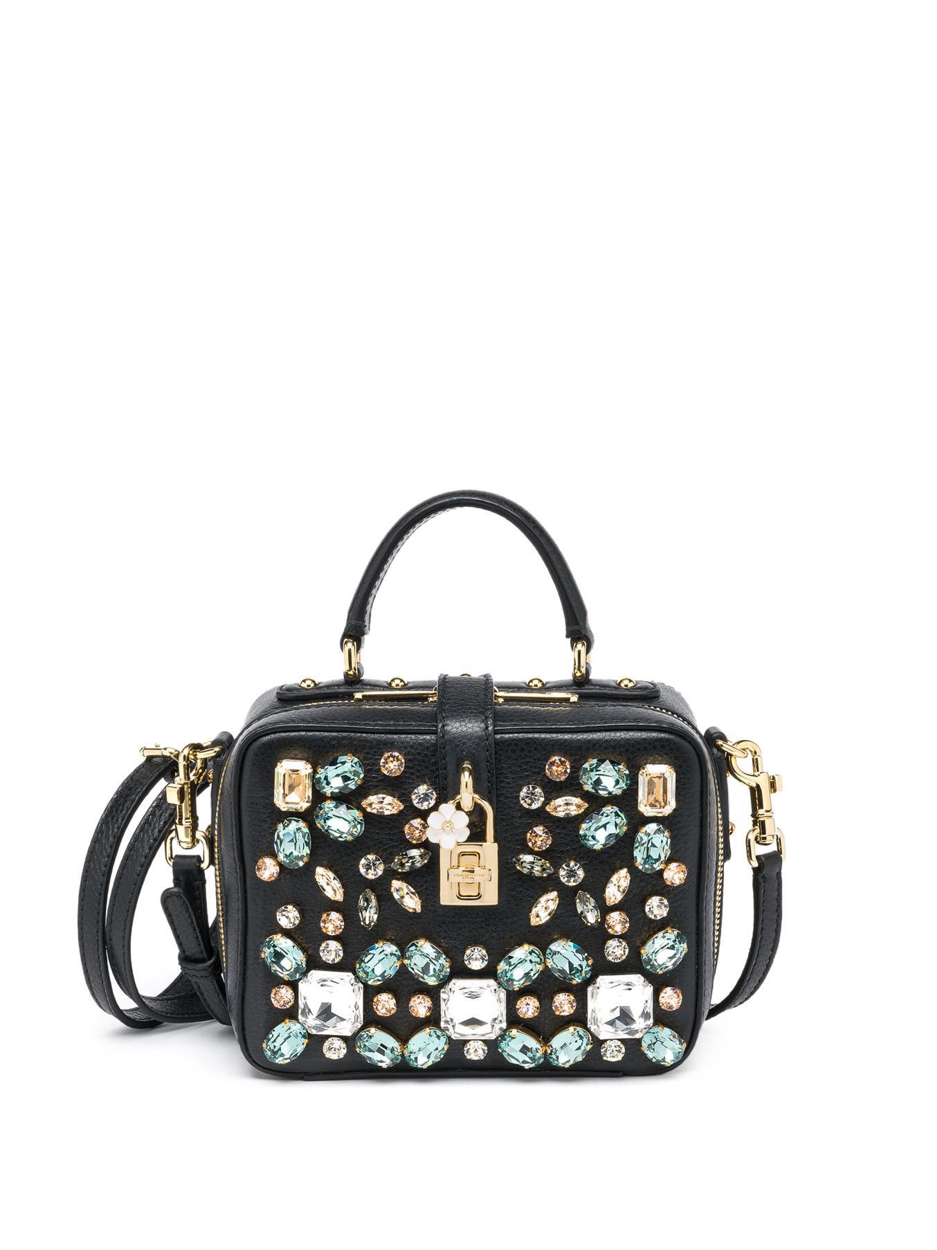 Lyst - Dolce   Gabbana Embellished Camera Bag in Black fd986d56ddd47